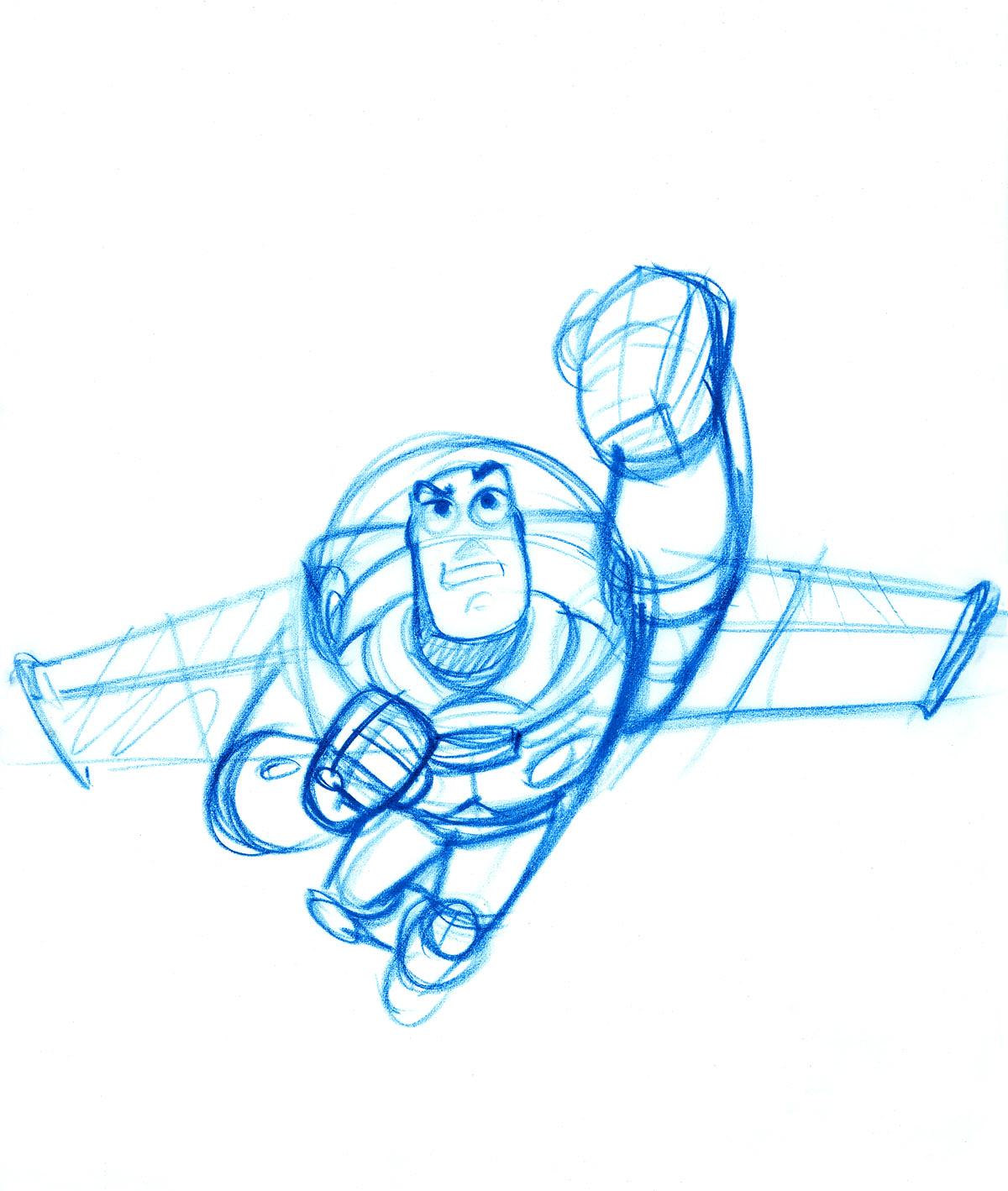 Buzz Lightyear drawn by Bob Pauley