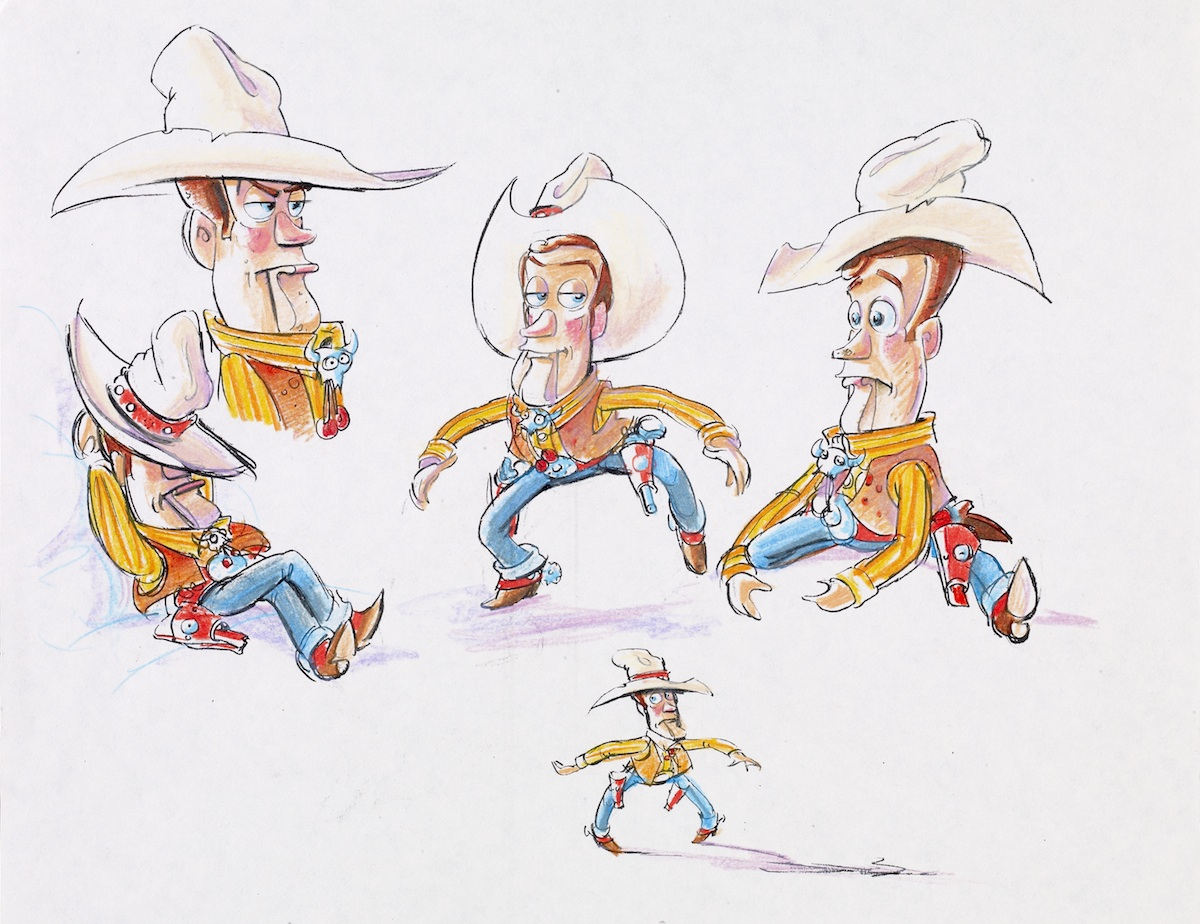 Woody designs by Bud Luckey
