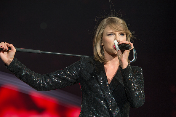 Taylor Swift performs at a concert at the Greensboro Coliseum on Oct. 21, 2015, in Greensboro, N.C.