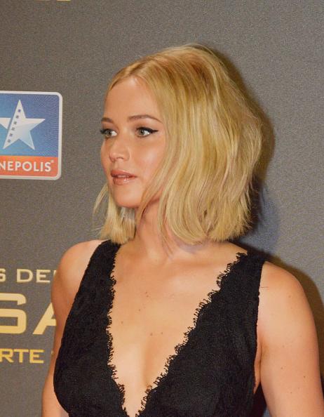 Jennifer Lawrence attend 'The Hunger Games: Mockingjay Part 2' premiere at Kinepolis cinema on November 10, 2015 in Madrid, Spain.