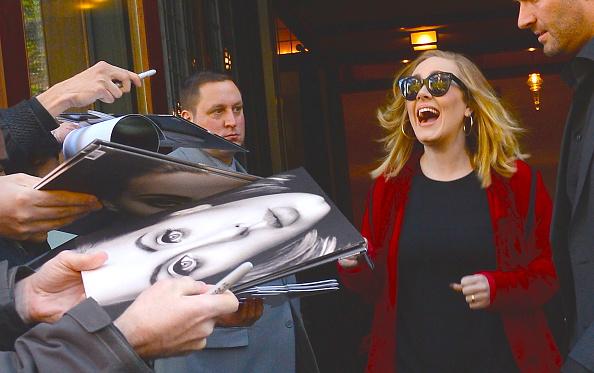 Adele is seen in Soho in New York City on Nov. 20, 2015.