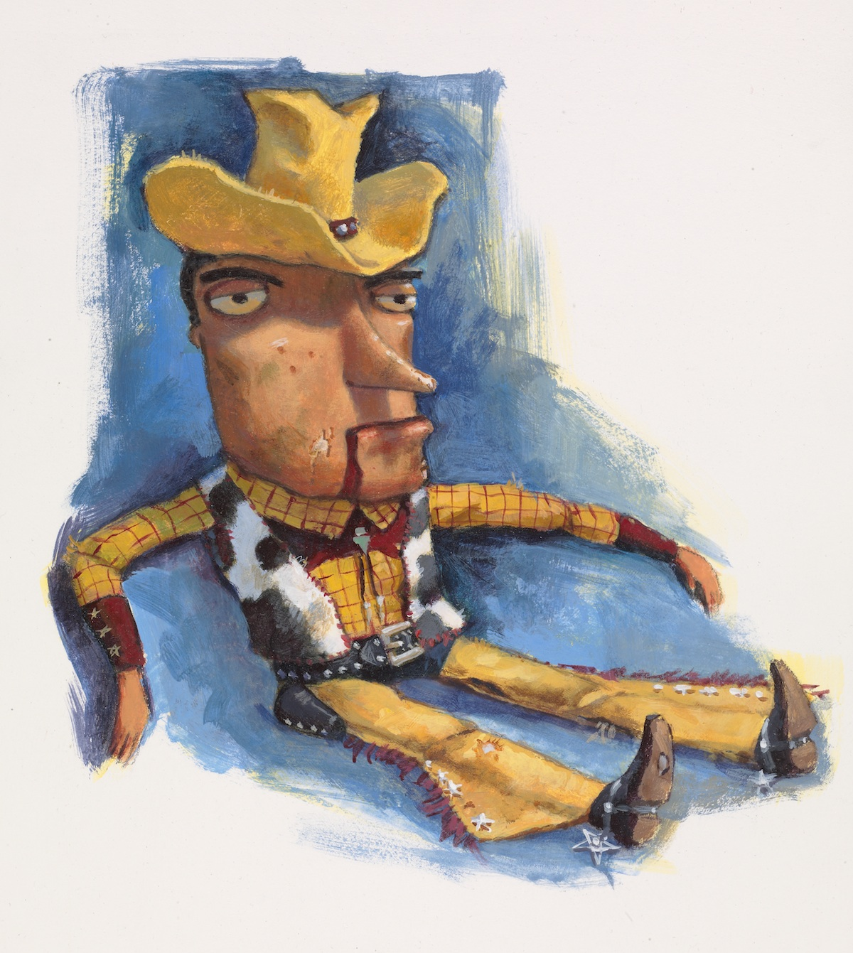 Woody drawn by Steve Johnson and Lou Fancher