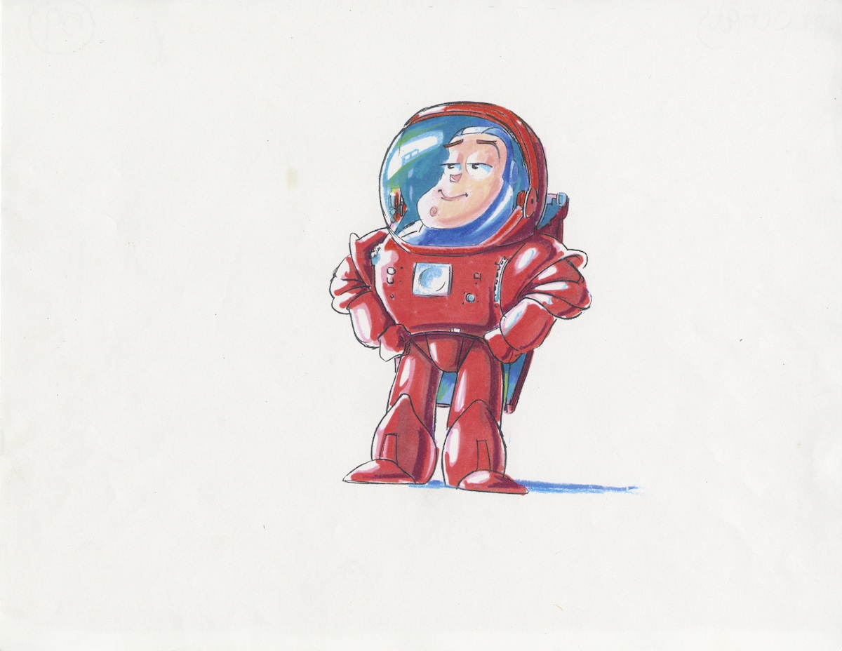 Buzz Lightyear drawn by Bud Luckey