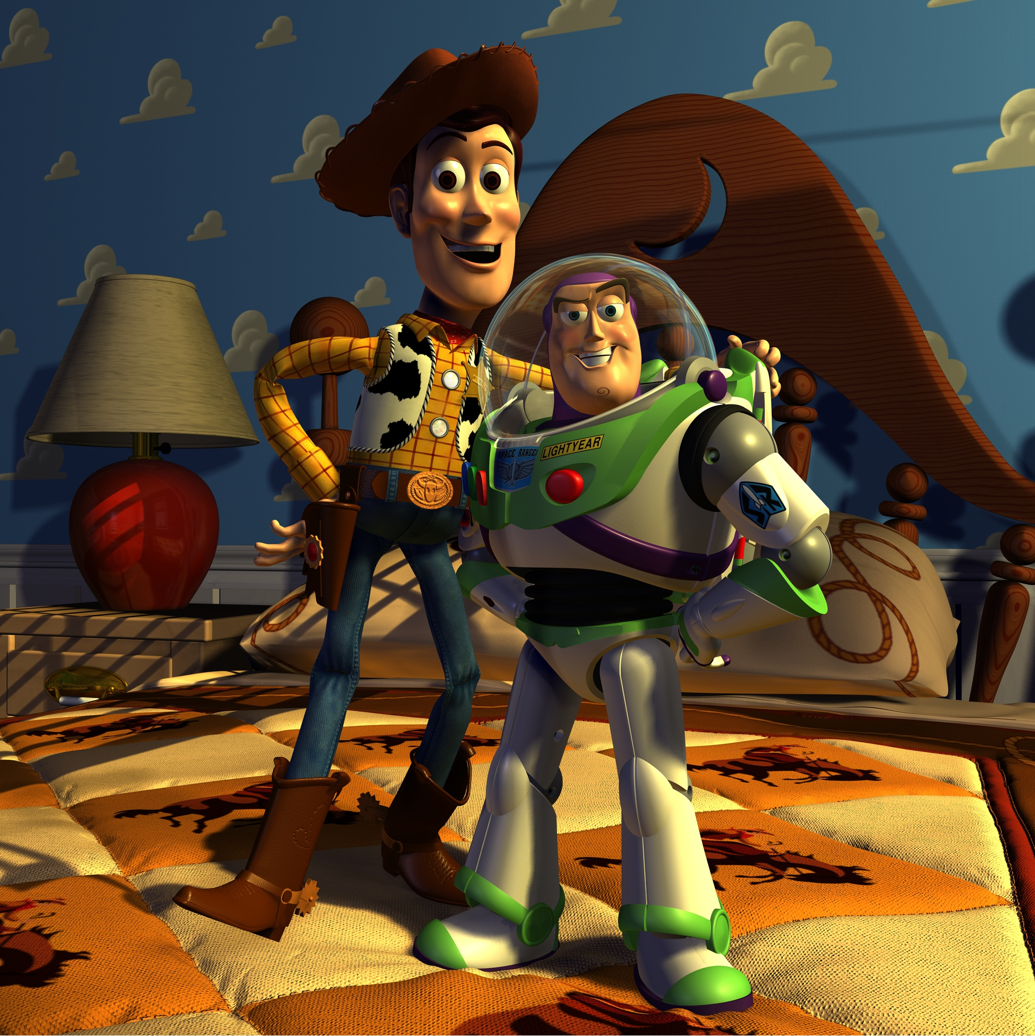 A still from the final version of 'Toy Story' (1995)