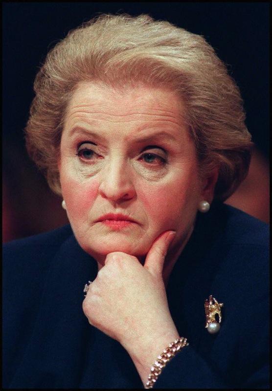 Secretary of State designate Madeleine Albright li