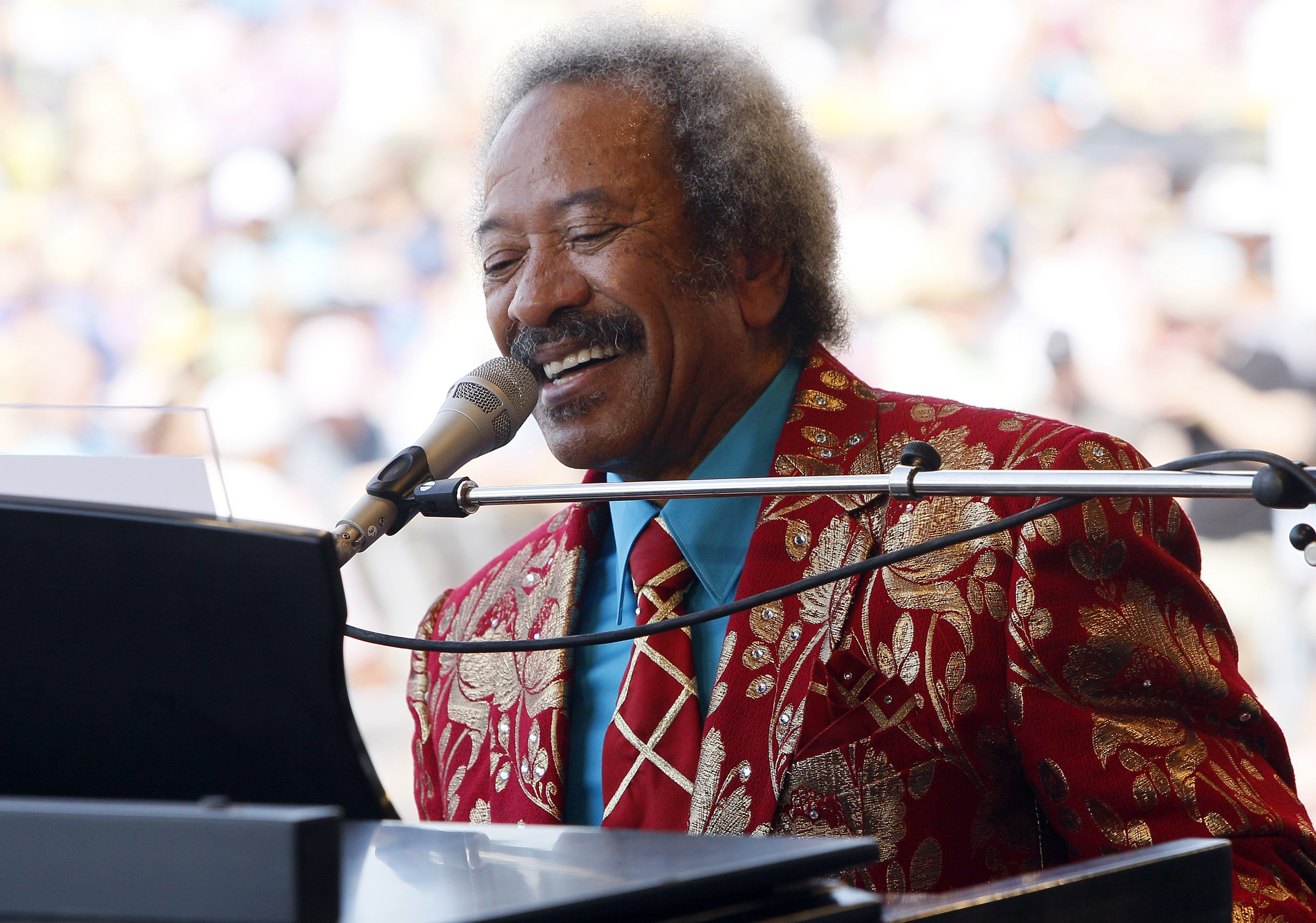 Toussaint performs at theNew Orleans Jazz and Heritage Festival in New Orleans on May 7, 2011.