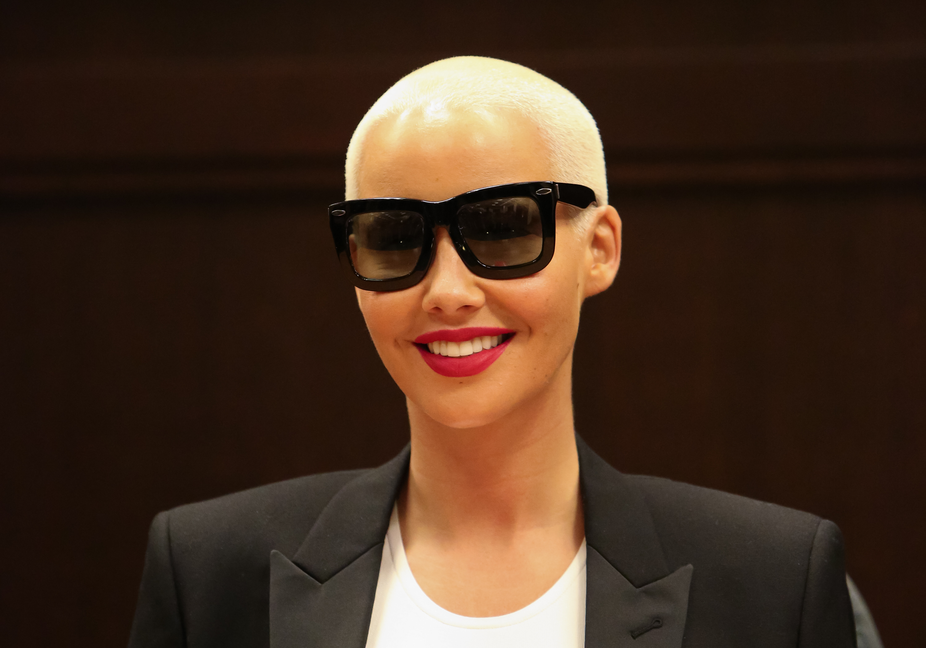 Model / Reality TV Personality Amber Rose signs copys of her new book  How To Be A Bad Bitch  at Barnes & Noble at The Grove on October 29, 2015 in Los Angeles, California.