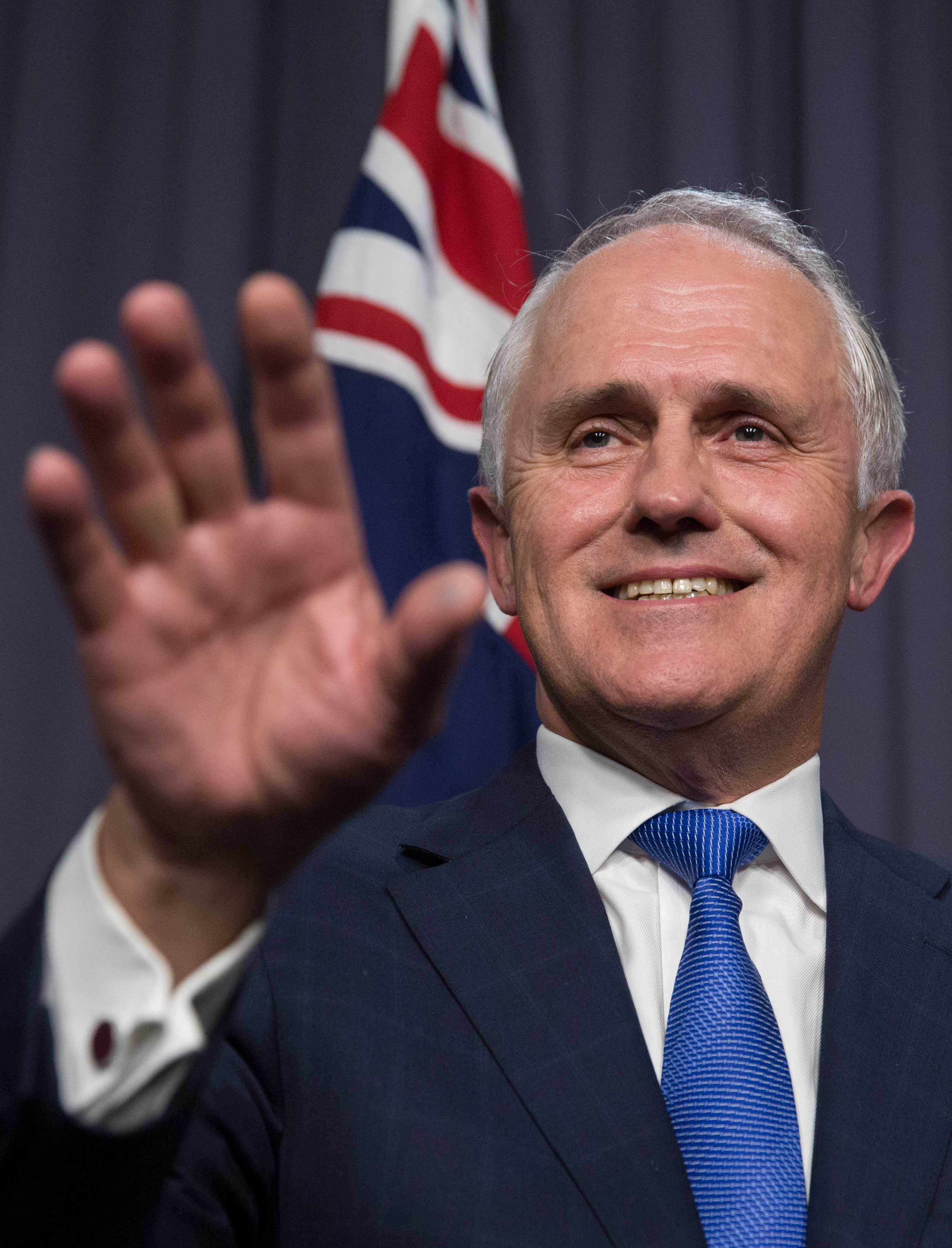 Malcolm Turnbull comments after an Australian Liberal Party meeting where he has been elected at the new party leader  at Parliament House in Canberra, Monday, Sept. 14, 2015.