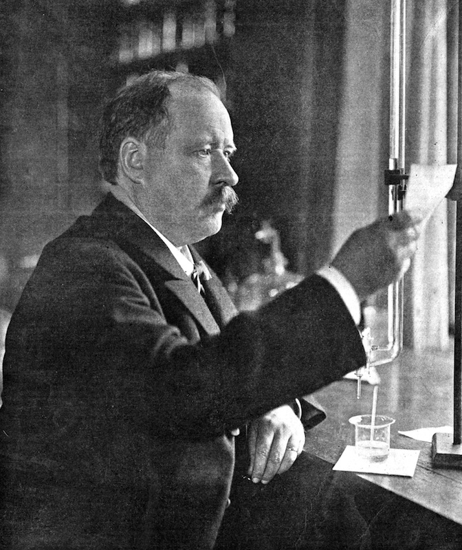 Svante Arrhenius (1859-1927), Swedish physicist and chemist in his laboratory, 1909