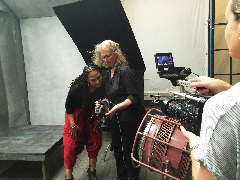 Director Ava DuVernay and Annie Leibovitz.