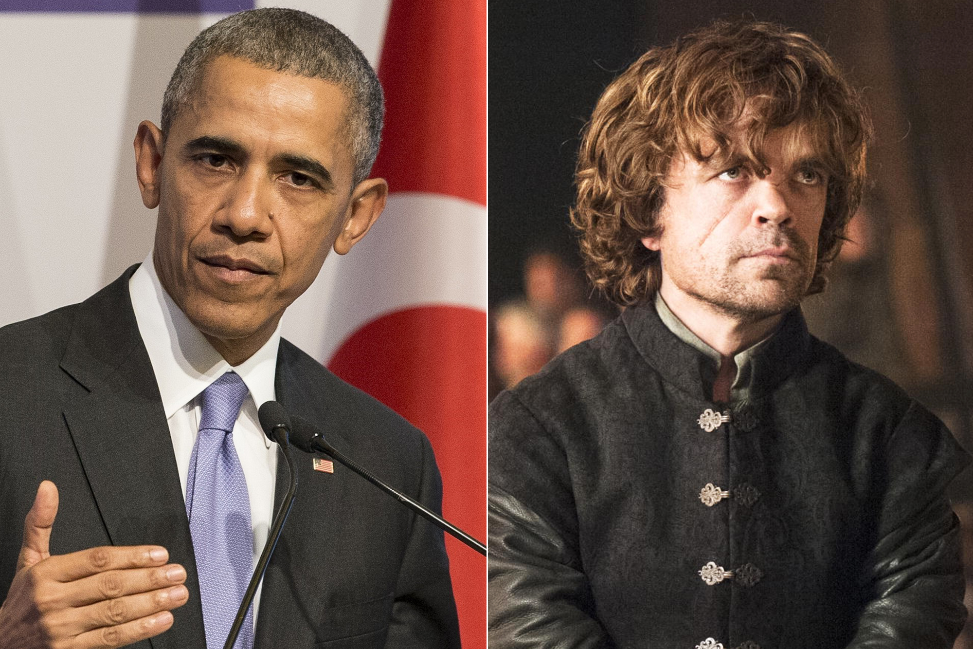 From left: Barack Obama and Tyrion Lannister.