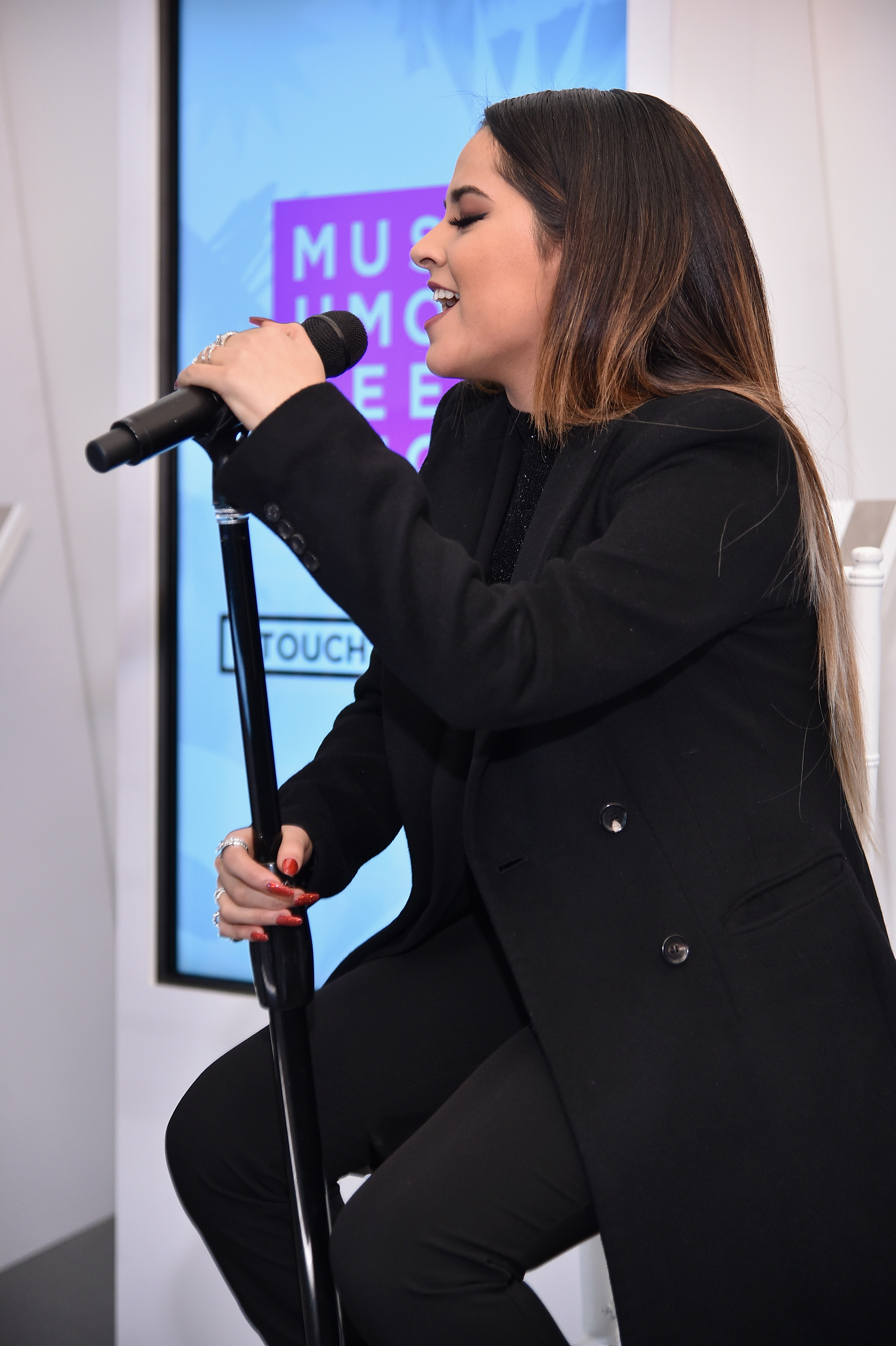 Becky G performs at the launch party of The Museum of Feelings, curated by Glade, at Brookfield Place in New York City on Nov. 23, 2015.