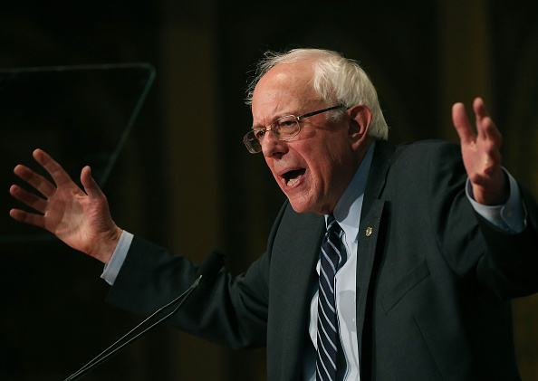 Democratic Presidential candidate Sen. Bernie Sanders (I-VT) speaks about combating ISIS and democratic socialism at Georgetown University November 19, 2015 in Washington, D.C.