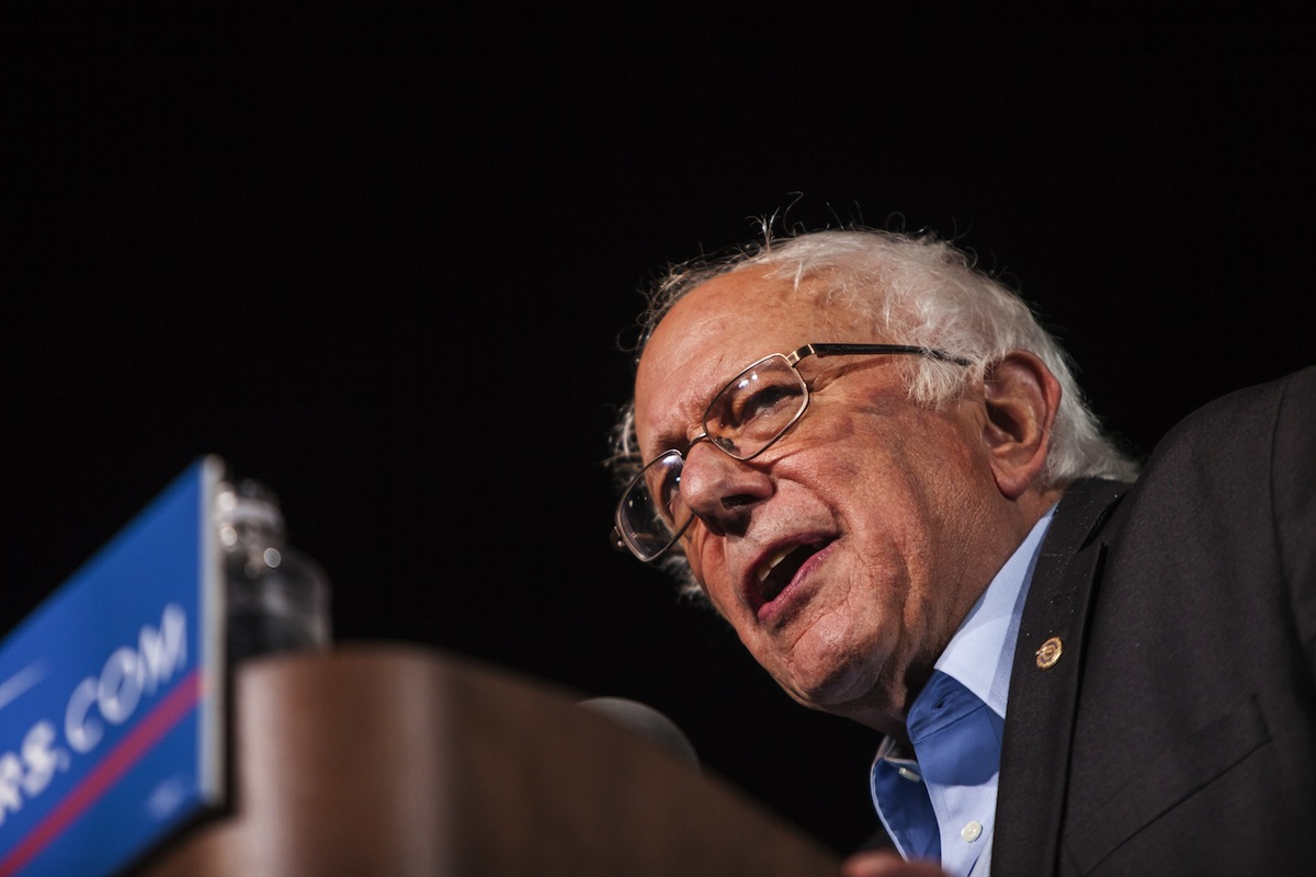 Democratic Presidential Candidate Congressman Bernie Sanders speaks during a campaign rally in Manassas, Va., on Sept. 14, 2015.