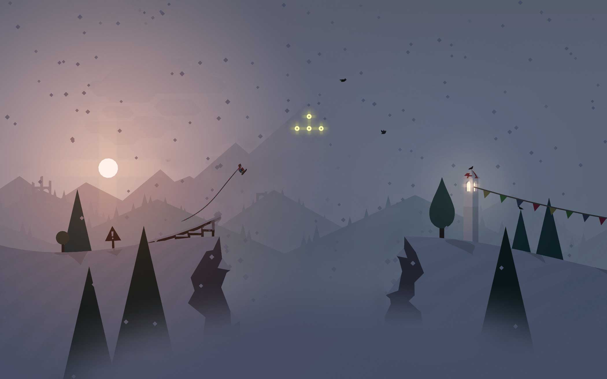 """<b>Alto's Adventure</b> Design Process:<i> """"We wanted the world to have a lighthearted charm, while also feeling grounded in it's own reality – to immerse the players in an environment that captures the essence of what it means to be alone in the wilderness.""""</i> - Snowman"""