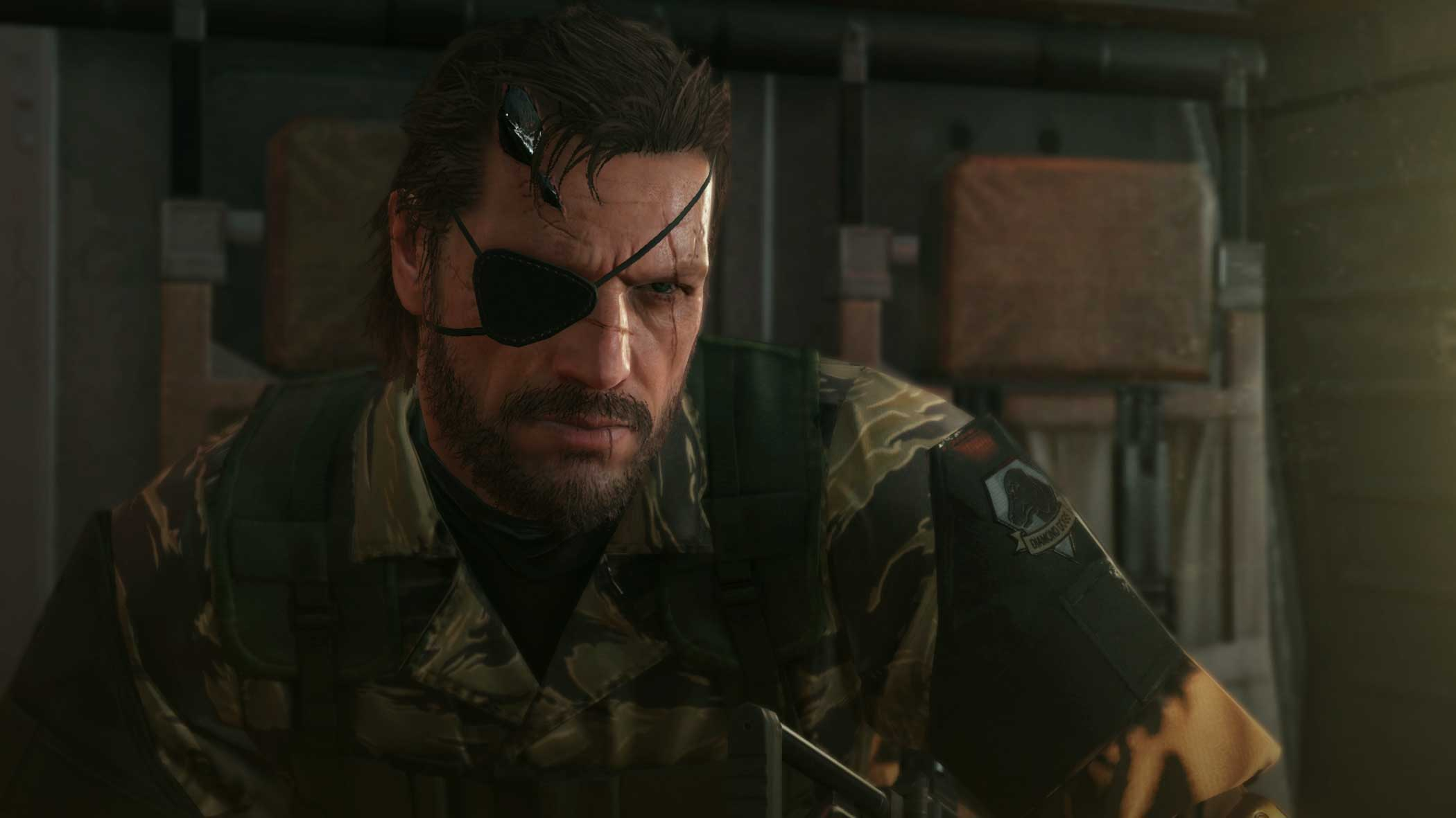 Metal Gear Solid V: The Phantom Pain Design Process:  This cut scene is expressed as a technique called SSS (Sub-Surface Scattering). The soft shadow is scattered on his skin from the light to convey a certain mood.  - Kojima Productions