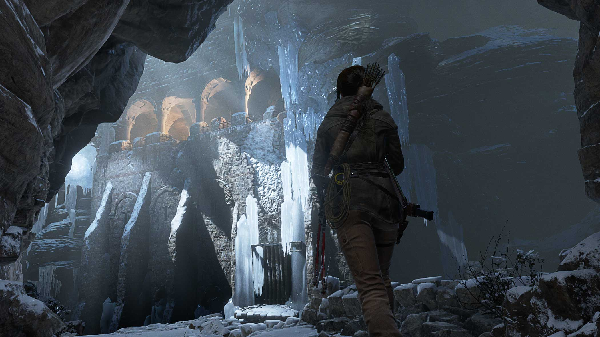 """<b>Rise of the Tomb Raider</b> Design Process:<i> """"...the world is an enemy. We strive to build environments which deliver harsh survival conditions, as well as treacherous traversal.  This supports our premise that the secrets of history are protected by the most beautiful, yet hostile environments on Earth""""</i> - Crystal Dynamics"""