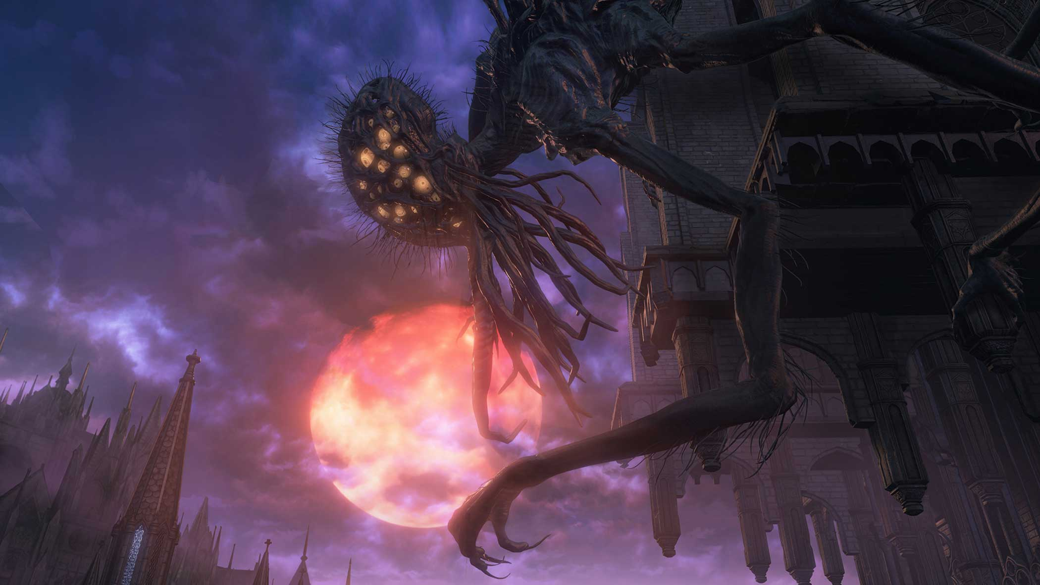 """<b>Bloodborne</b> Design Process:<i> """"Bloodborne is set in a dark and secluded city called Yharnam, a gothic cityscape filled with Victorian motifs and shrouded in prejudice and mystery. The processing power of the PlayStation 4 allowed us to bring to life the gritty and horrifying gothic Victorian architecture and décor...""""</i> - FromSoftware"""