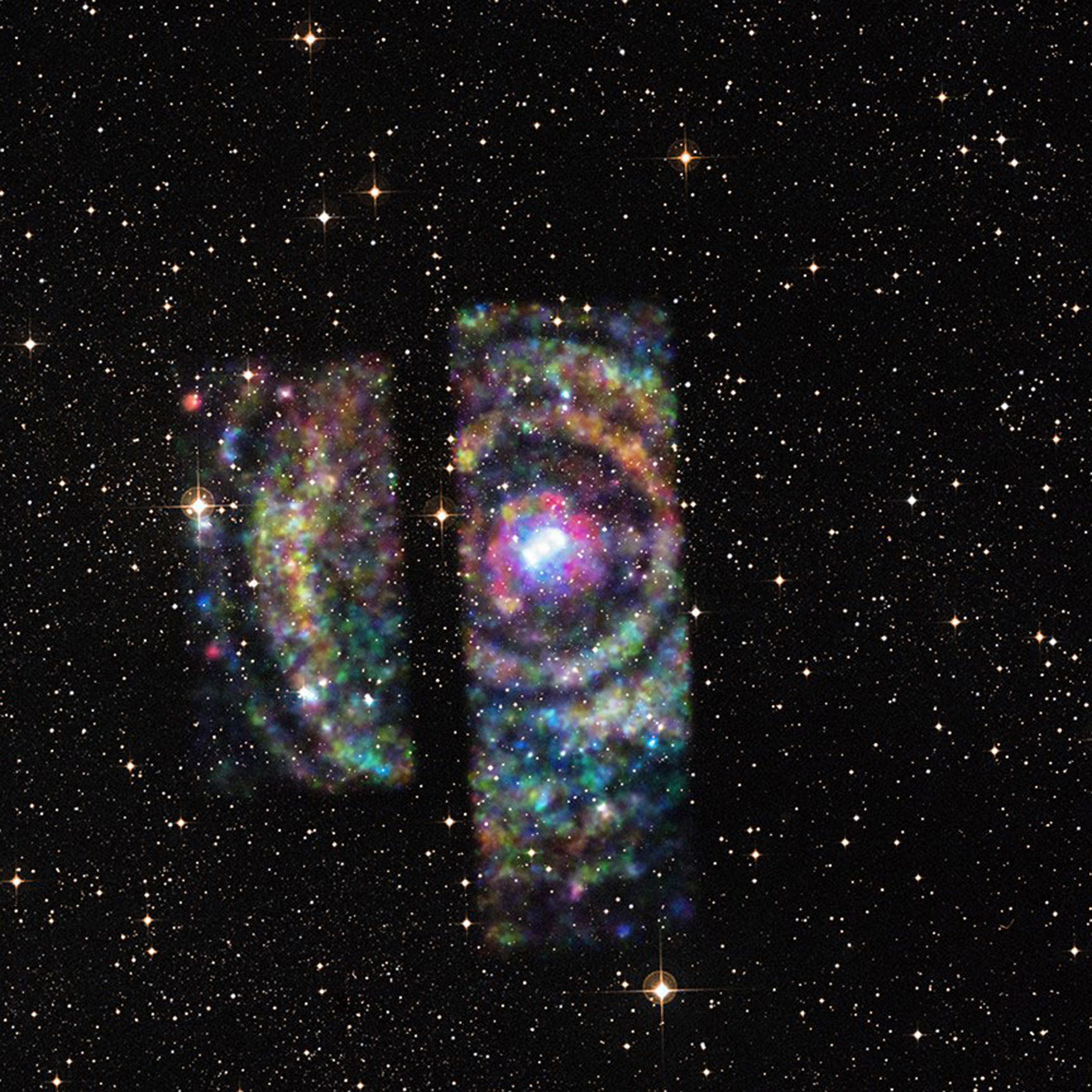 Circinus X-1 is an X-ray binary star known for its erratic variability can be seen in this photo released on June 23, 2015.  Within the system, a dense neutron star, the collapsed remnant of a supernova explosion, orbits with a more ordinary stellar companion Circinus X-1 30,700 light-years away.