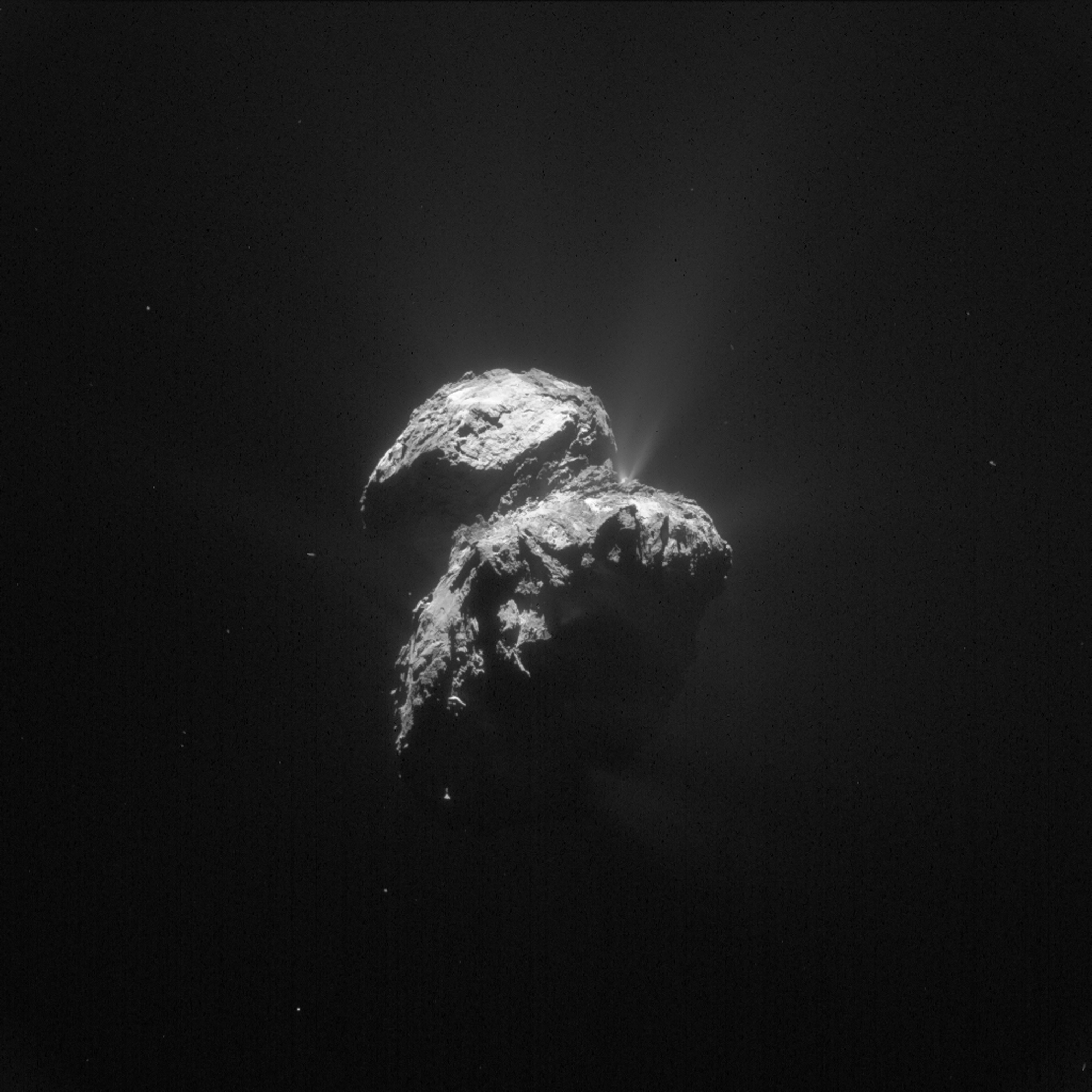 Comet 67P, photographed by the Rosetta Orbiter from a distance of 79 miles on Nov. 22, 2015.