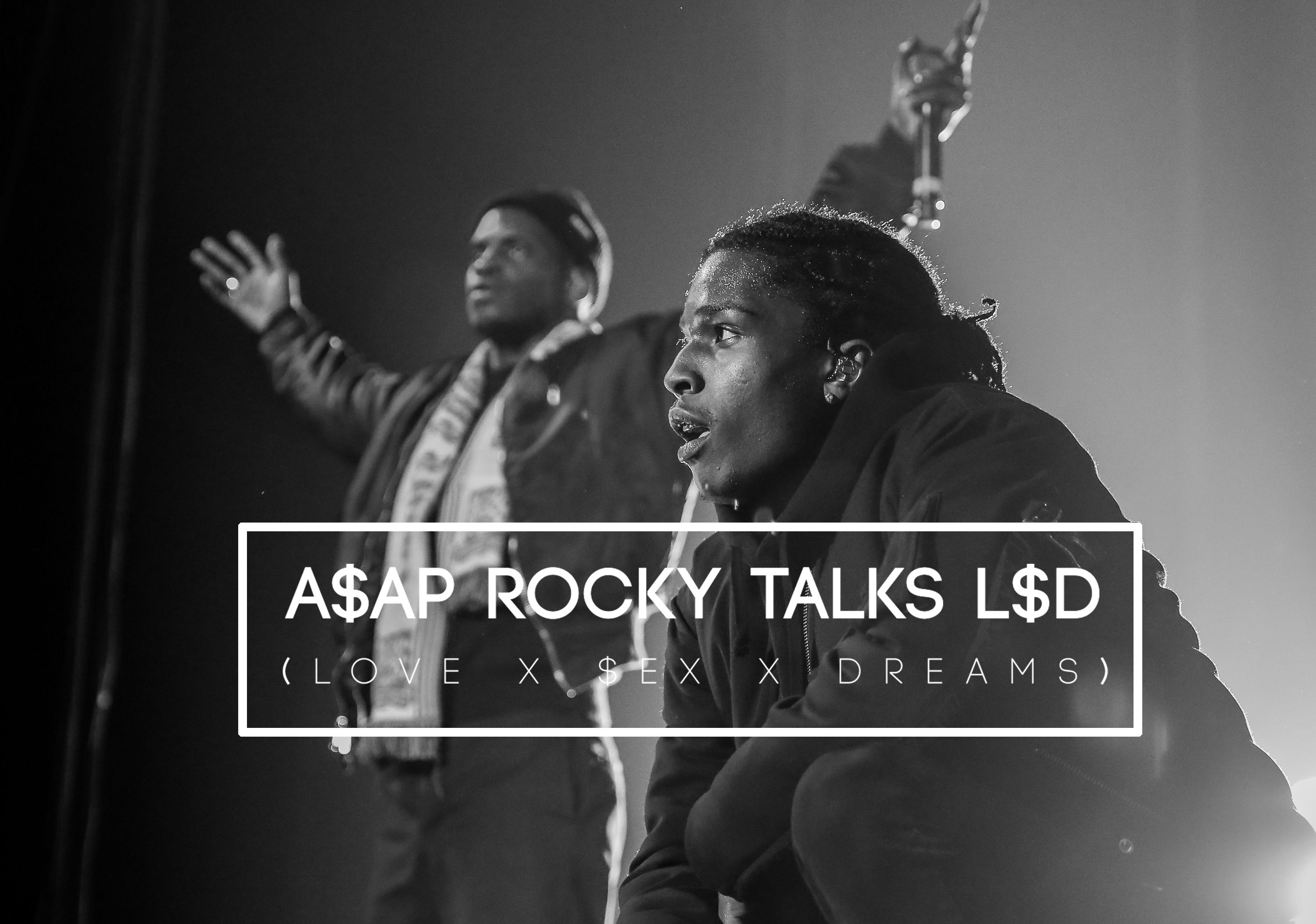 AVAILABLE) LONDON, ENGLAND - OCTOBER 17: (EDITORS NOTE: IMAGE SHOT IN BLACK & WHITE. NO COLOUR VERSION AVAILABLE) A$AP Rocky performs on stage at The O2 Arena on October 17, 2015 in London, England.