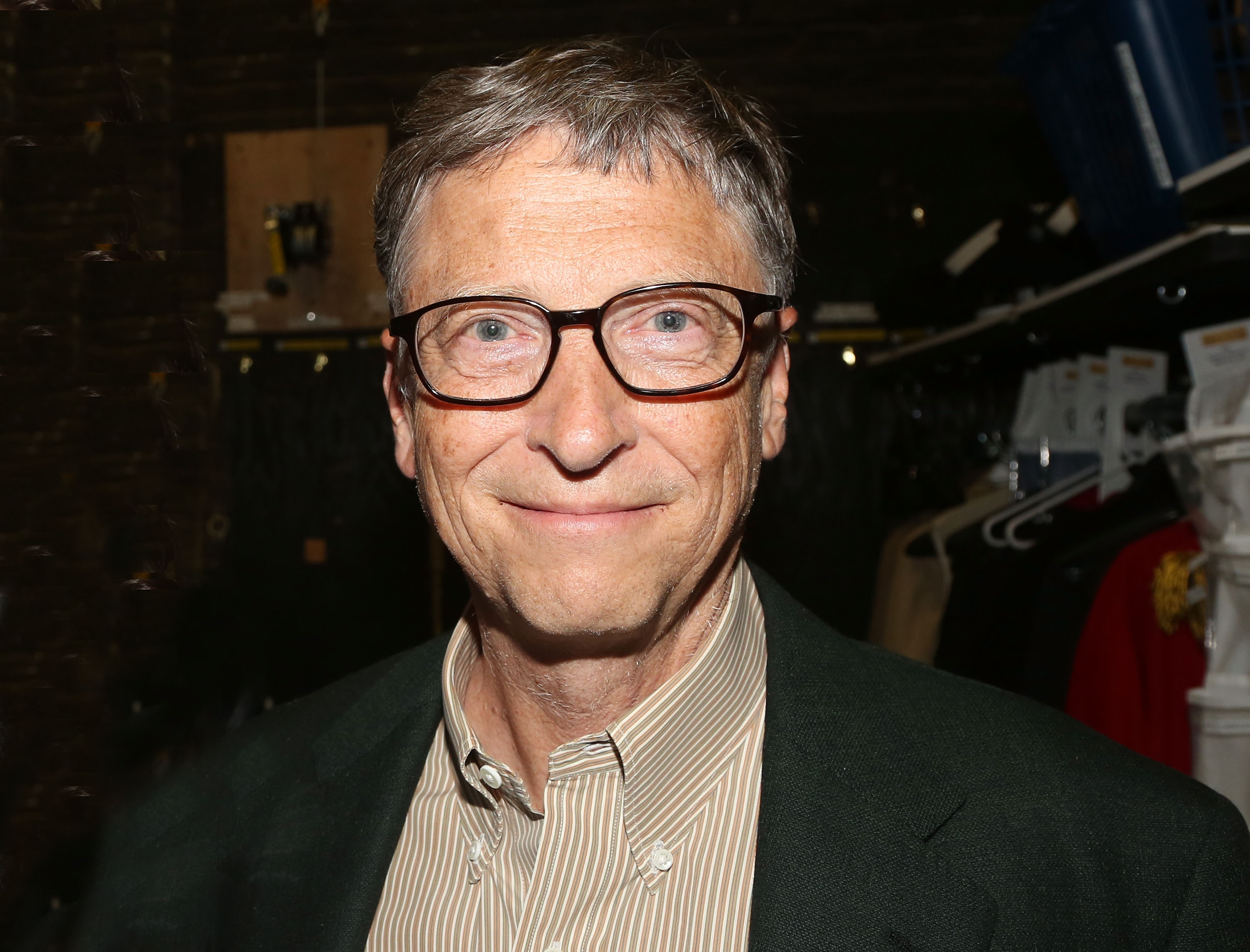 Bill Gates at the backtage of the musical 'Hamilton' on Broadway in New York City on Oct. 11, 2015.