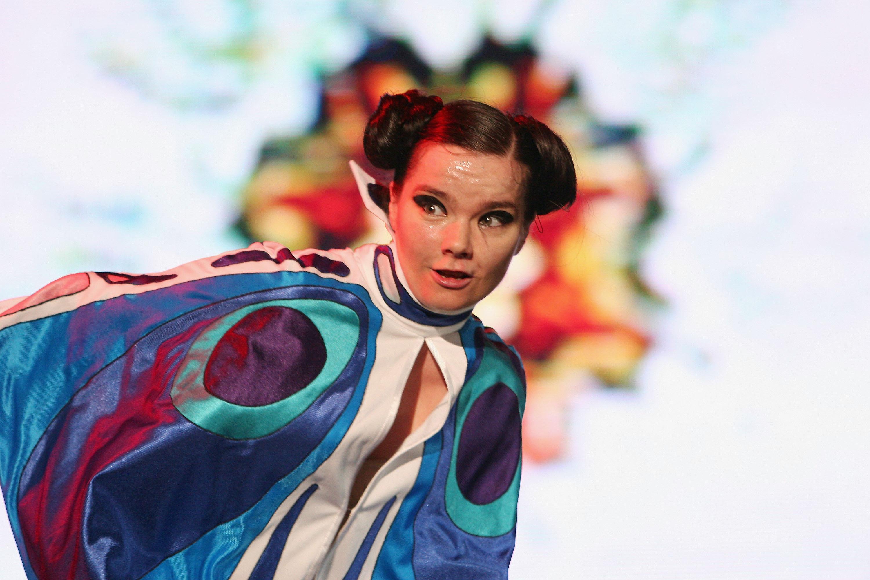 Björk performs at 'Live 8 Japan' in Chiba, Japan on July 2, 2005.