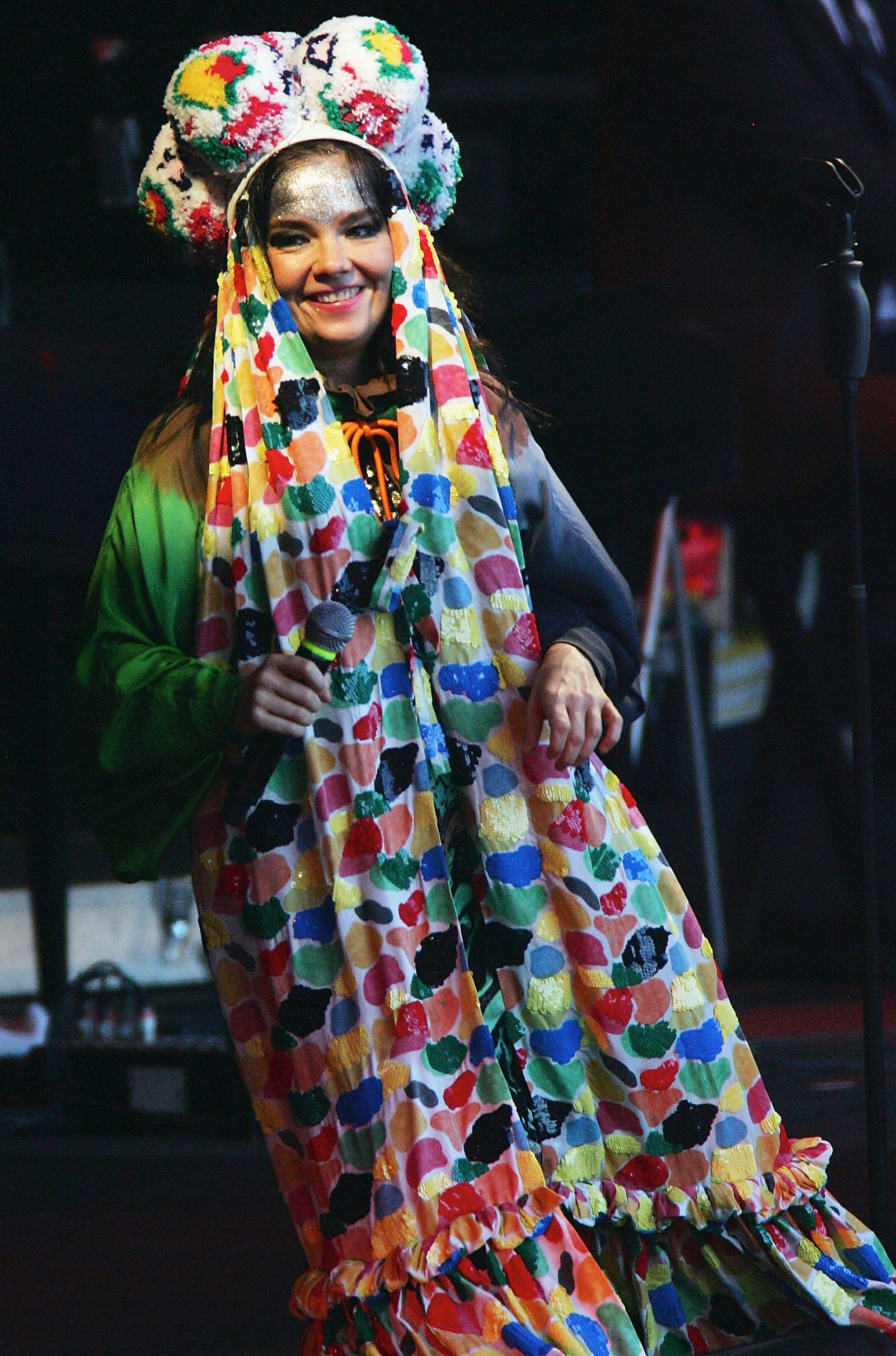 Björk performs onstage during Big Day Out in Auckland, New Zealand on Jan. 18, 2008.