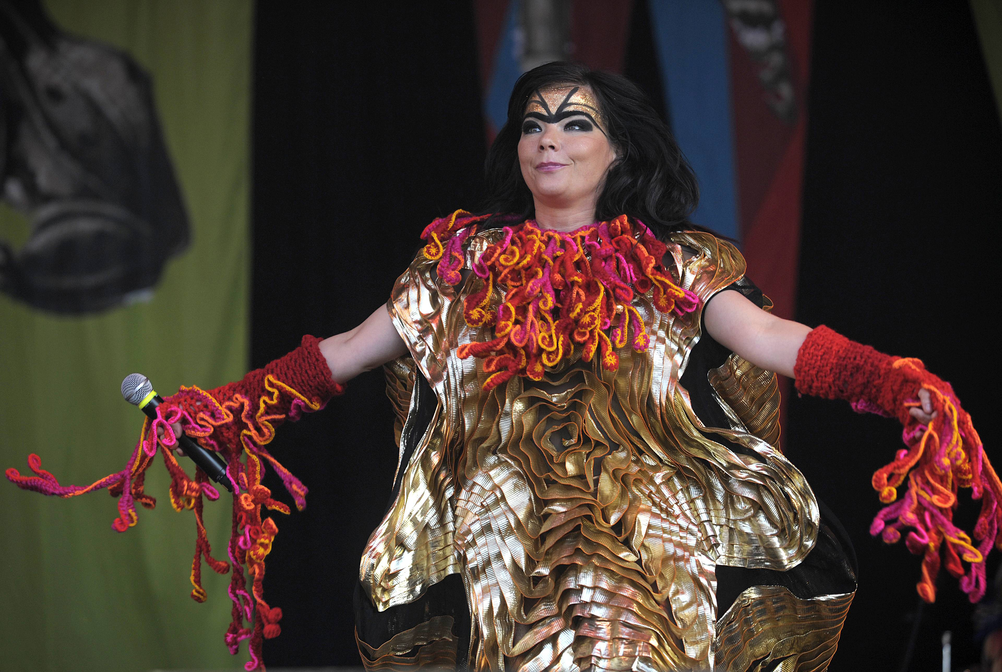 Björk performs during Big Day Out in Flemington, Australia on Jan. 28, 2008.