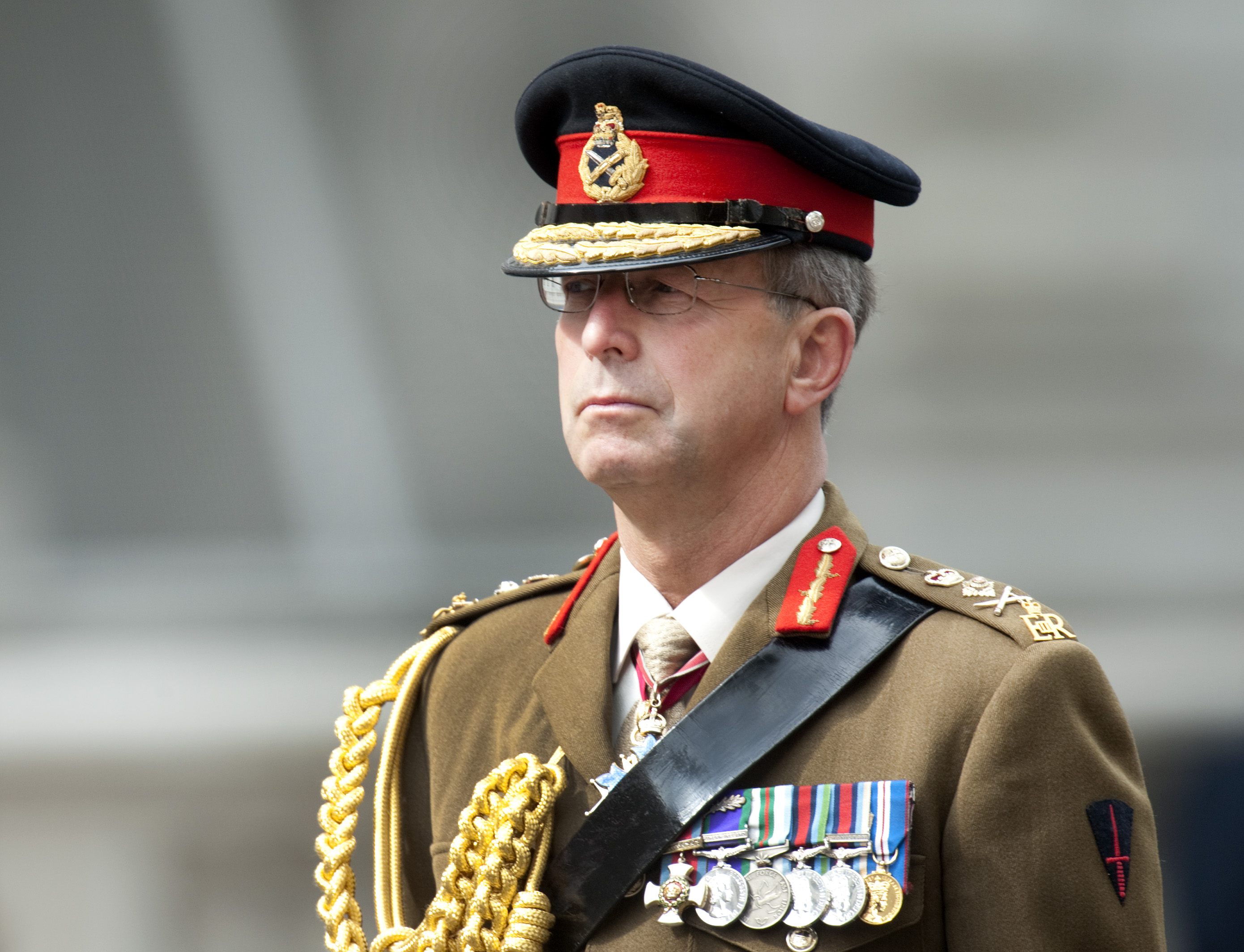 Chief Of The General Staff General Sir David Richards At The Cenotaph In London