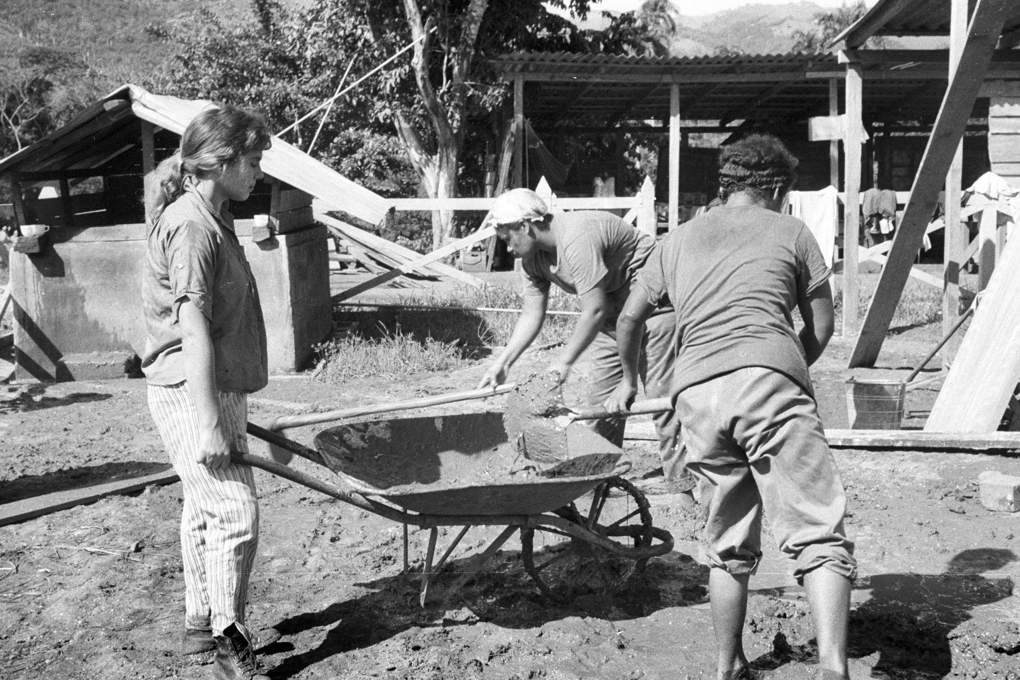 Women work at the Mariana Grajales brigade in Sierra Maestra, Cuba on July 26, 1960.