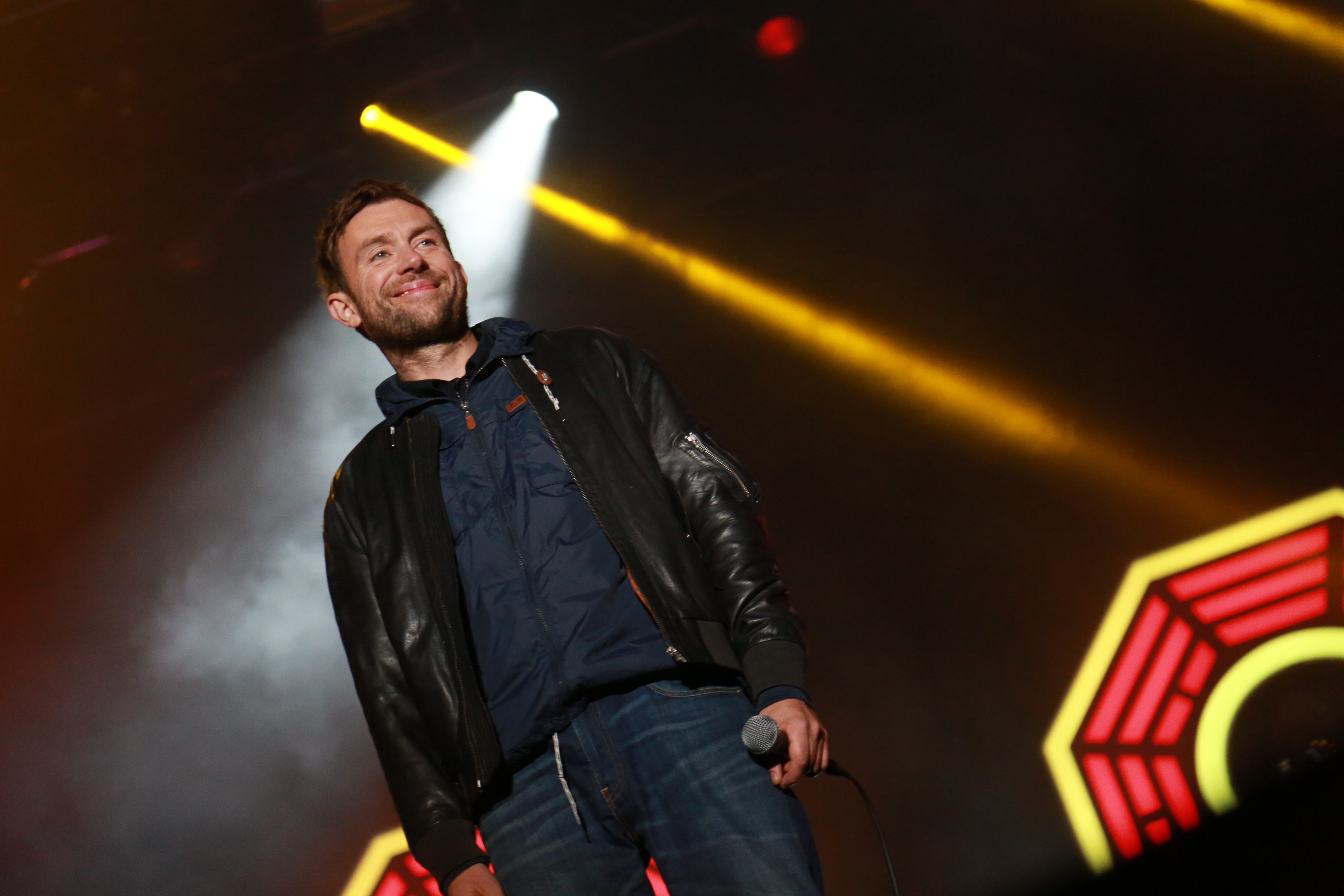 Damon Albarn of Blur performs on day 2 of the Electric Picnic Festival at Stradbally Hall Estate on September 5, 2015 in Stradbally, Ireland.