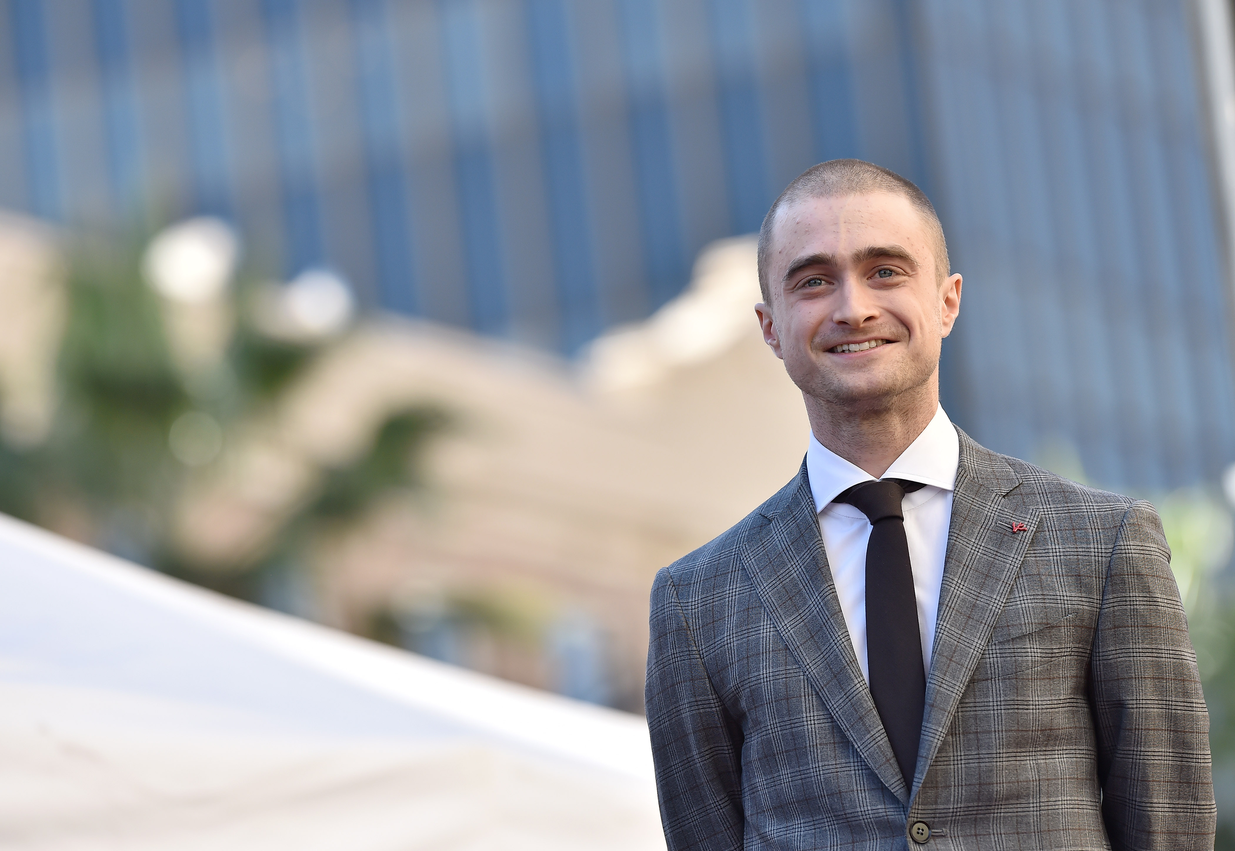 Daniel Radcliffe is honored with a star on the Hollywood Walk of Fame in Hollywood on Nov. 12, 2015.