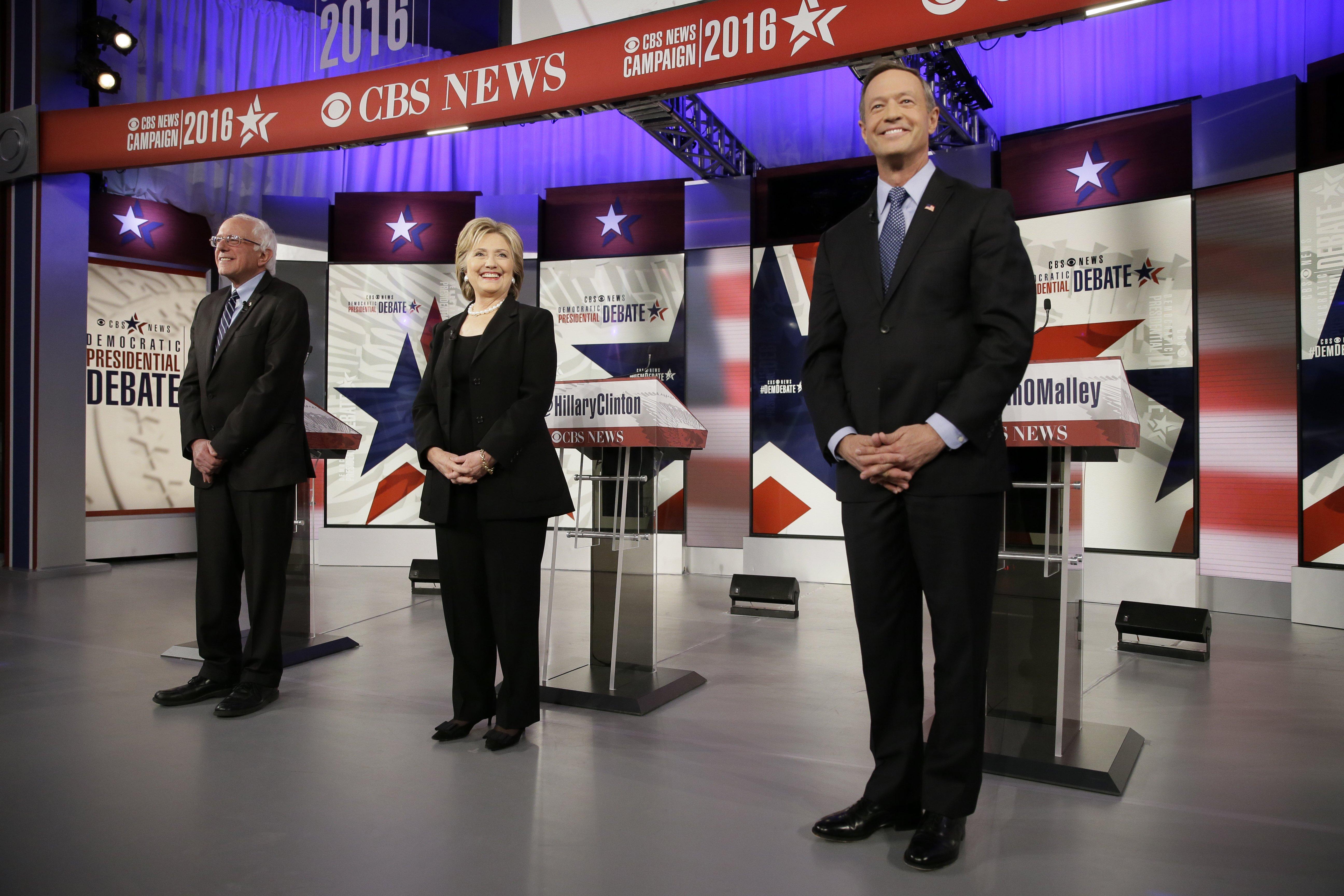 The Democratic presidential primary debate in Des Moines, IO on Nov. 14, 2015.