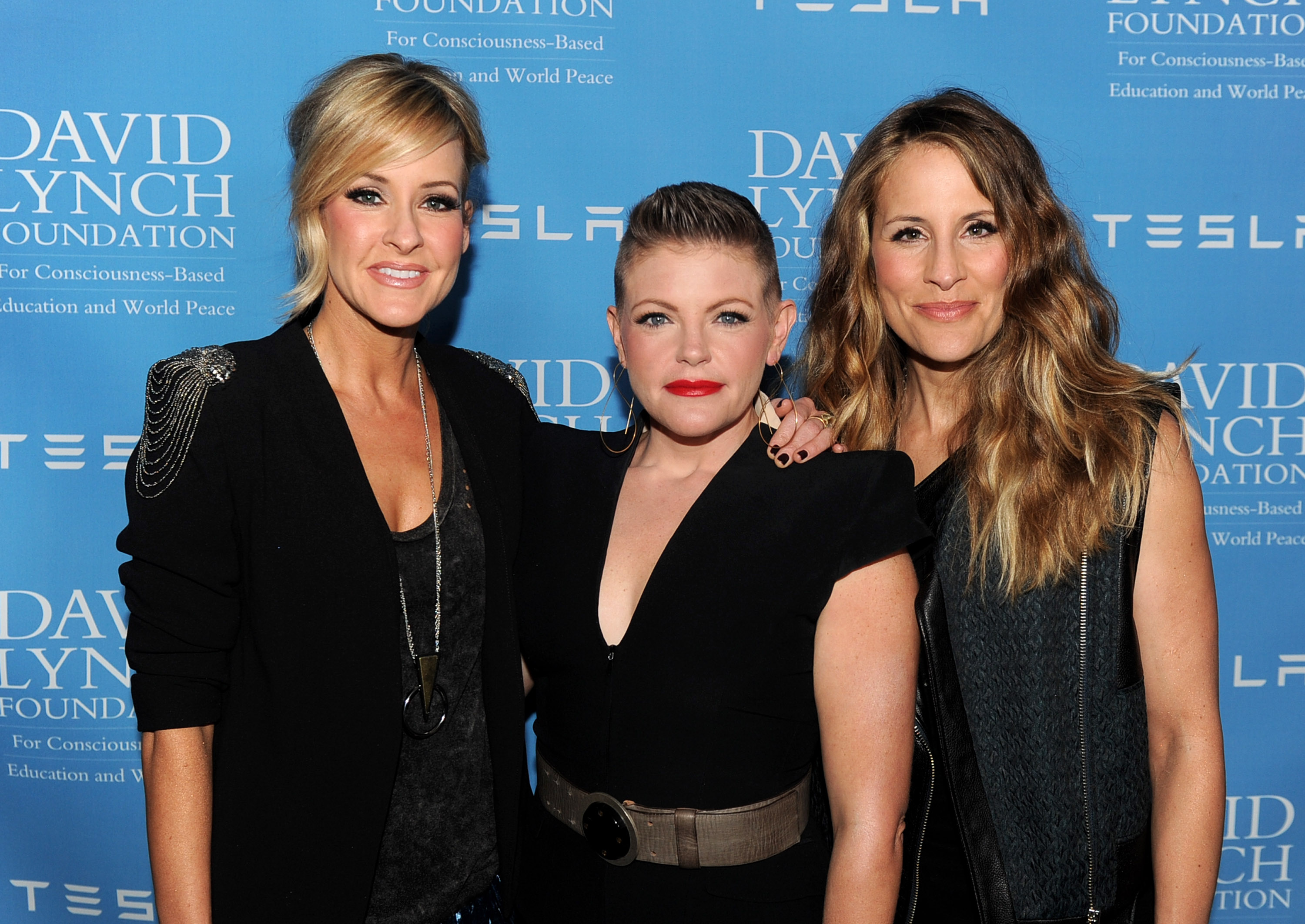 (L-R) Martie Maguire, Natalie Maines and Emily Robison of the Dixie Chicks at the David Lynch Foundation Gala in Beverly Hills, Calif. on Feb. 27, 2014.