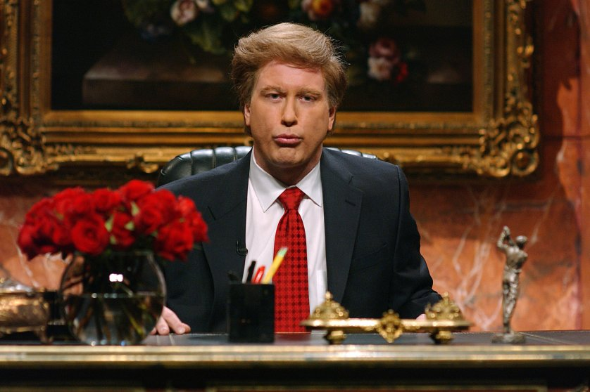 "Darrell Hammond played Donald Trump during the ""Donald Trump's Address"" skit on Jan. 10, 2004."