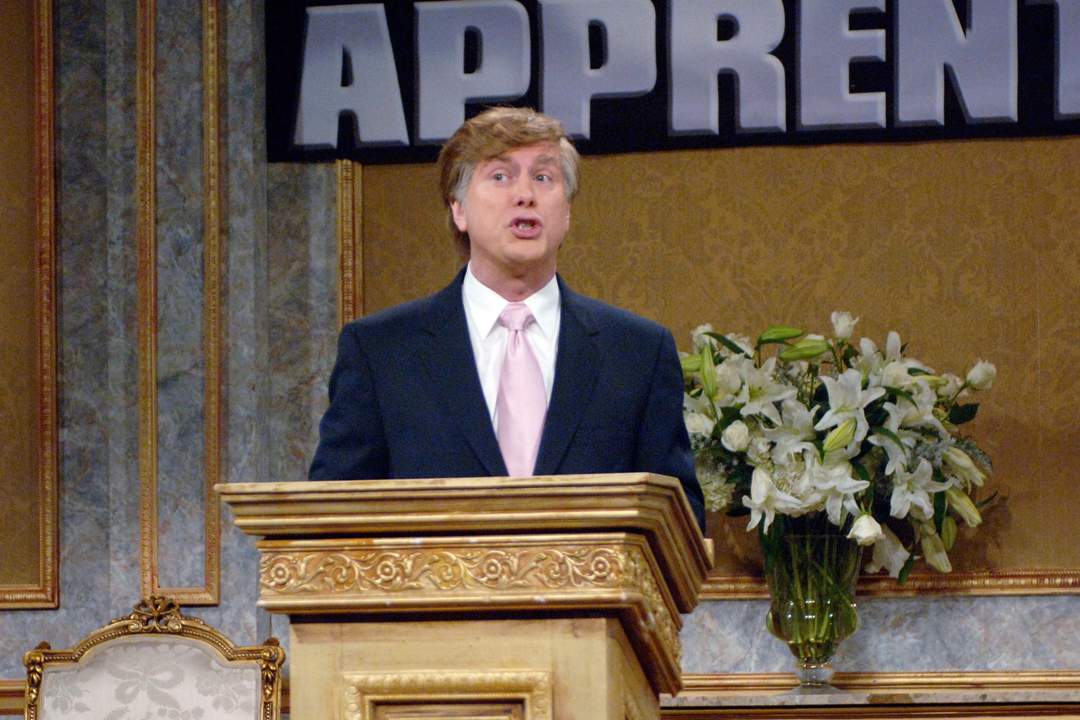Comedian Darrell Hammond appeared as Donald Trump during the skit 'Trump's Press Conference' on Jan. 13, 2007.