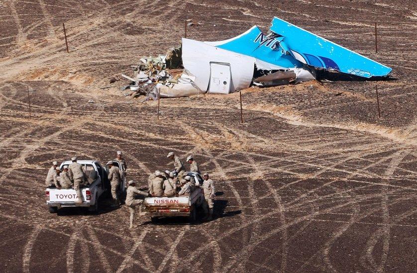 Russian plane crash site in central Sinai, Egypt