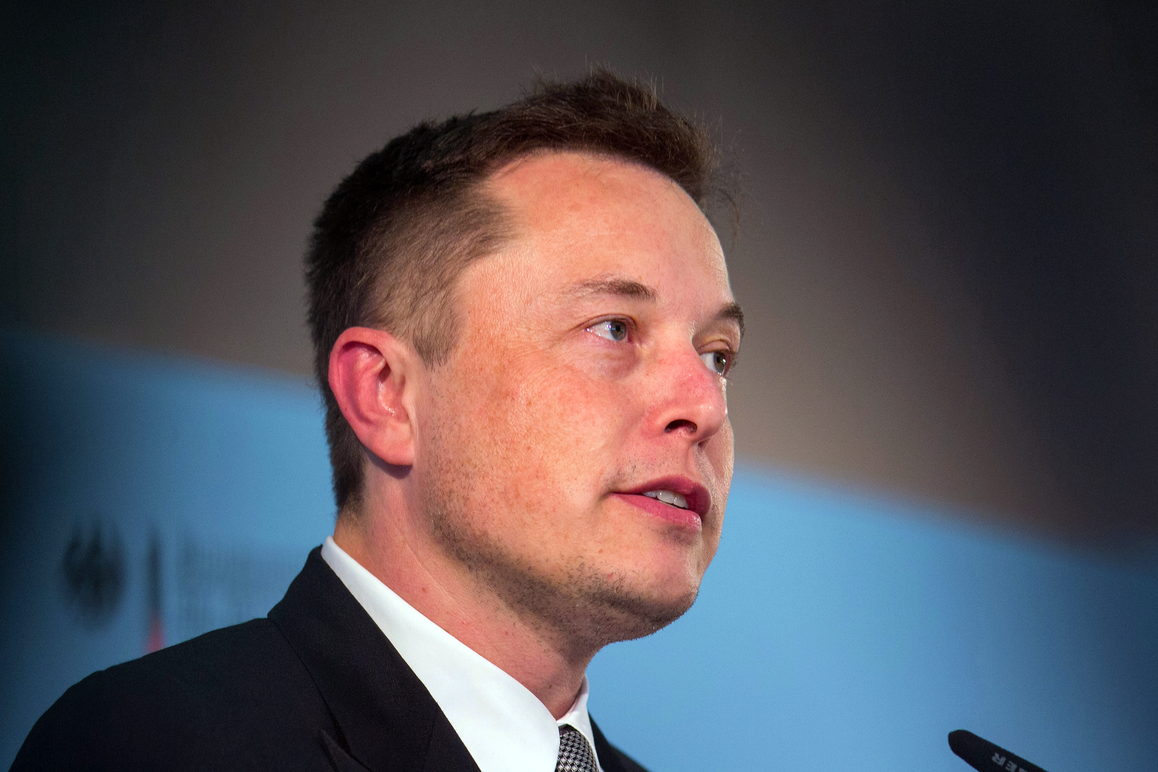 Elon Musk at a news conference in Berlin on Sept. 24, 2015.