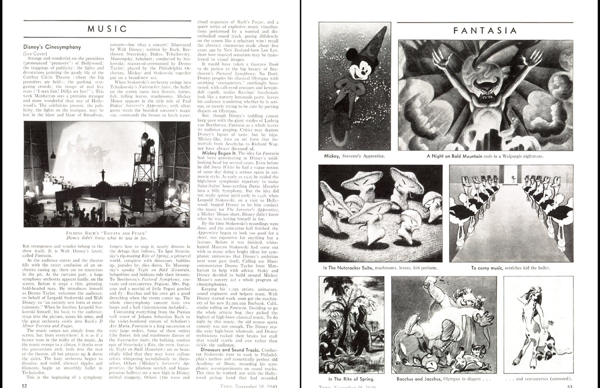A spread from the Nov. 18, 1940, issue of TIME