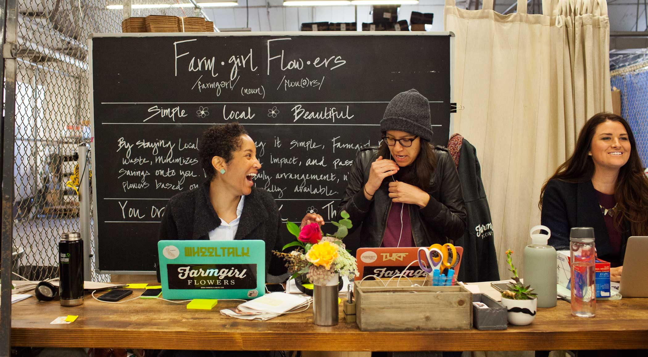 The customer service department at Farmgirl Flowers.