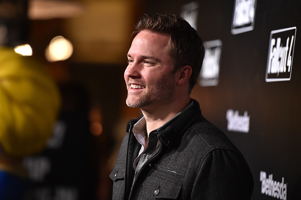 Actor Scott Porter attends the Fallout 4 video game launch event in downtown Los Angeles on November 5, 2015 in Los Angeles, California.