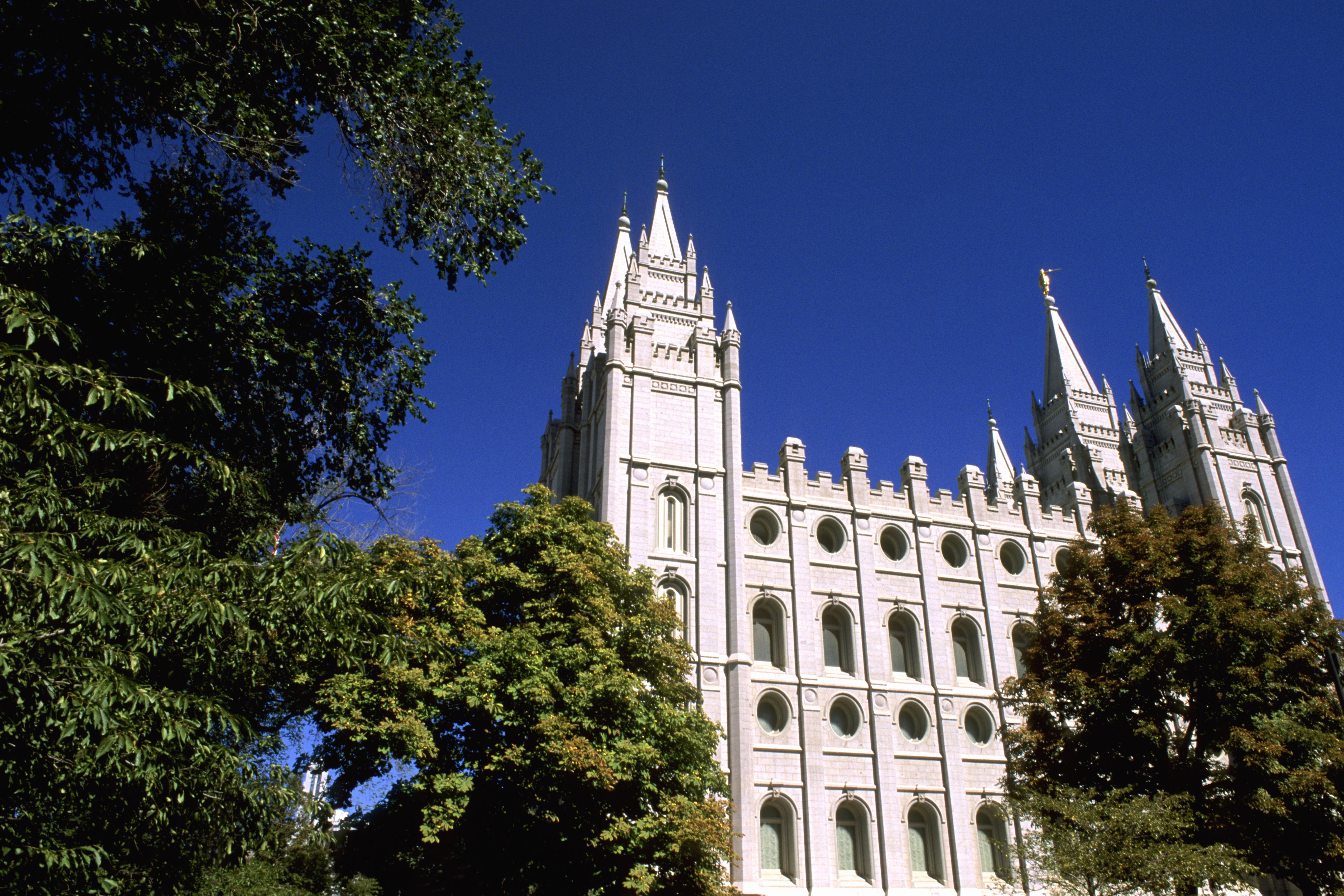 The Salt Lake Temple in Utah