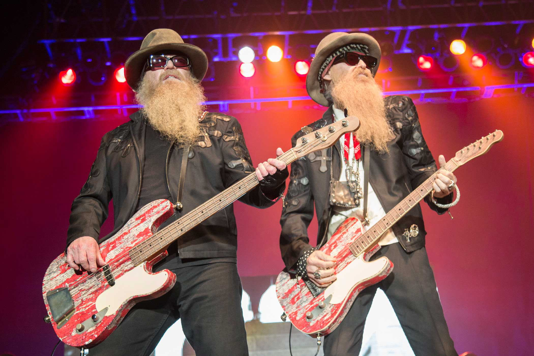 ZZ Top's Dusty Hill, left, and Billy Gibbons, right.