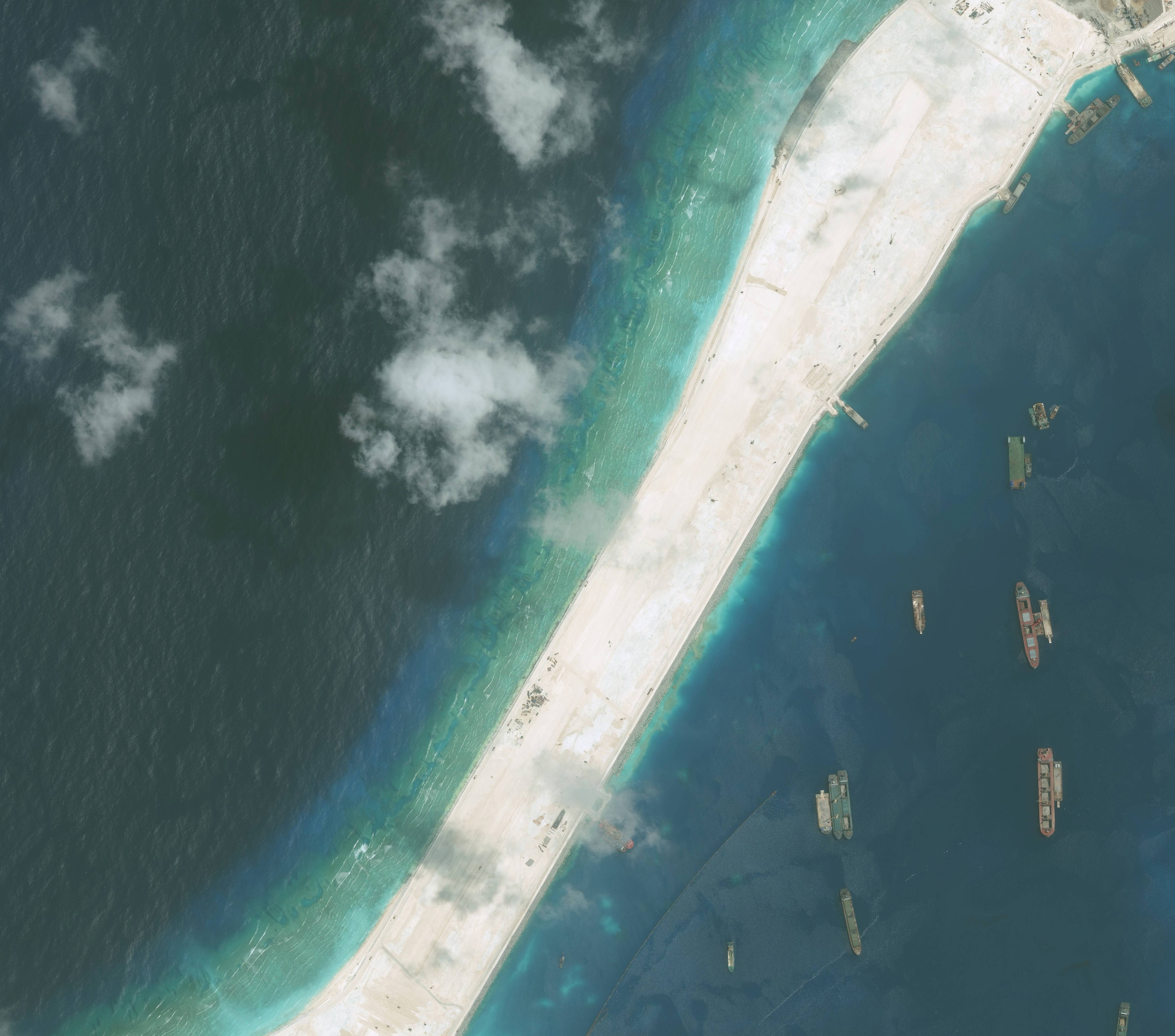 High-resolution imagery of the Subi Reef in the South China Sea, a part of the Spratly Islands group