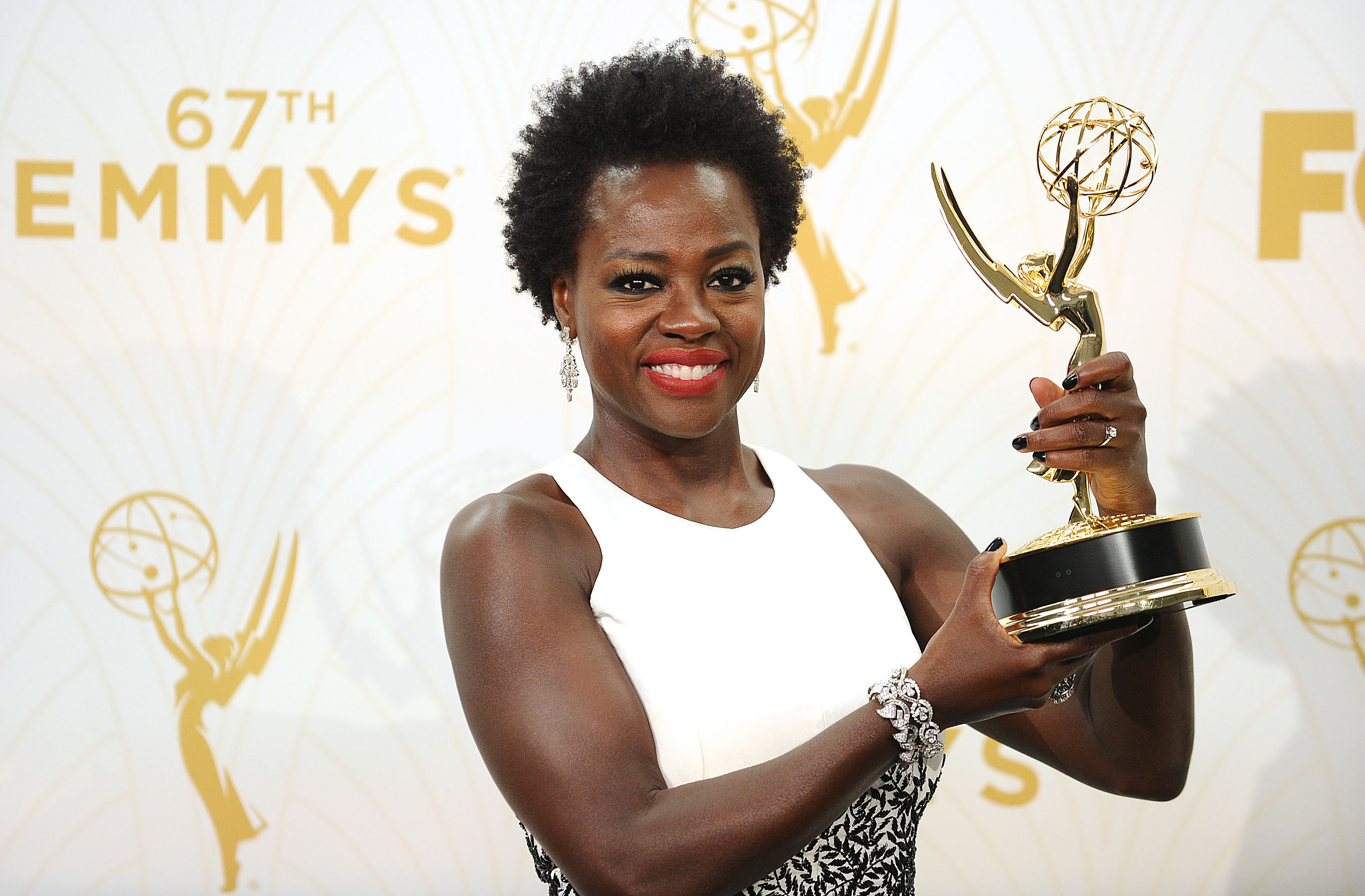 Actress Viola Davis poses in the press room at the 67th annual Primetime Emmy Awards at Microsoft Theater on Sept. 20, 2015 in Los Angeles, California.