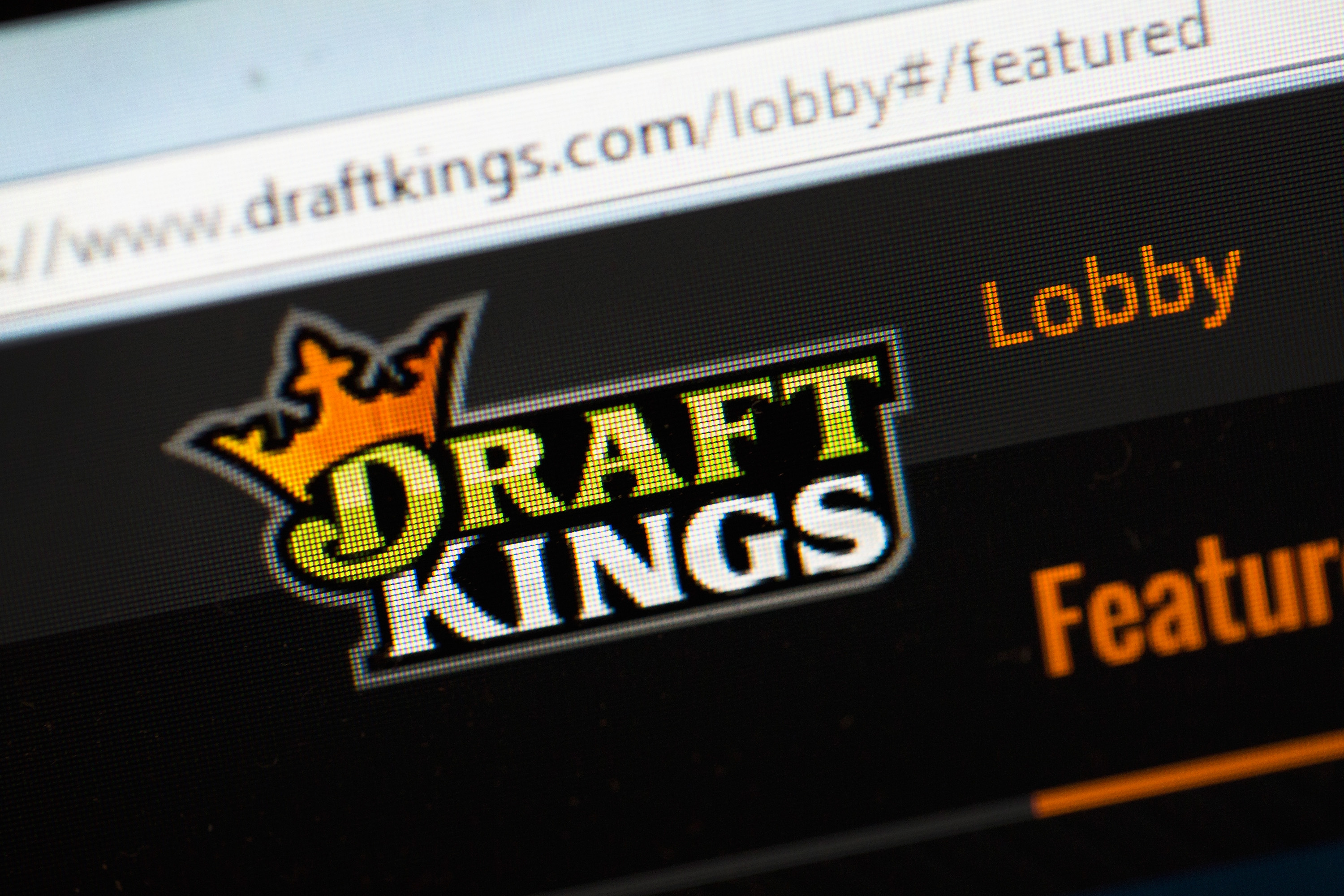 The fantasy sports website DraftKings is shown on Oct. 16, 2015 in Chicago, Ill.