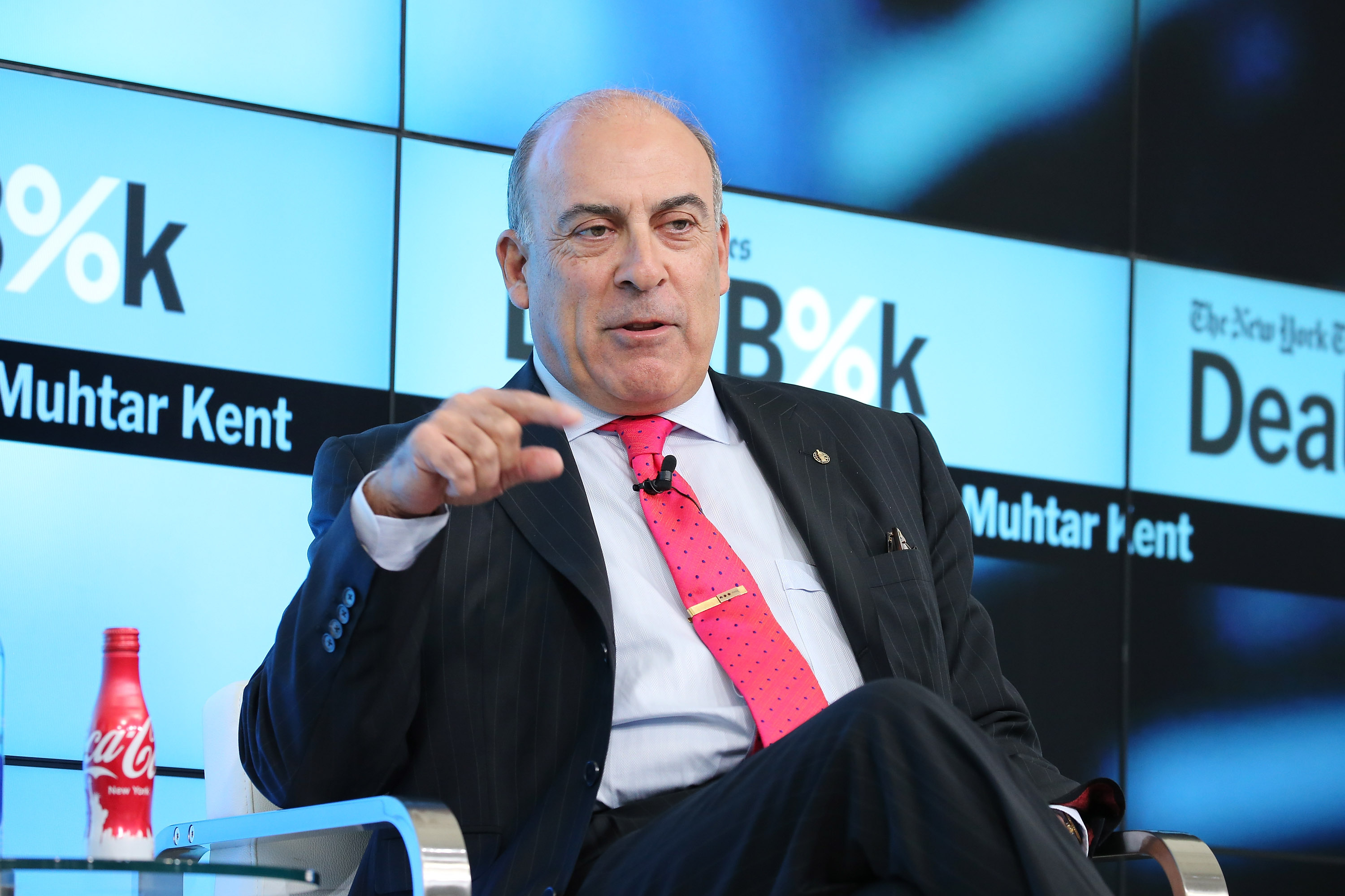 Chairman and CEO of The Coca-Cola Company Muhtar Kent participates in a panel discussion at the New York Times 2015 DealBook Conference at the Whitney Museum of American Art on November 3, 2015 in New York City.  (Neilson Barnard/Getty Images--New York Times)