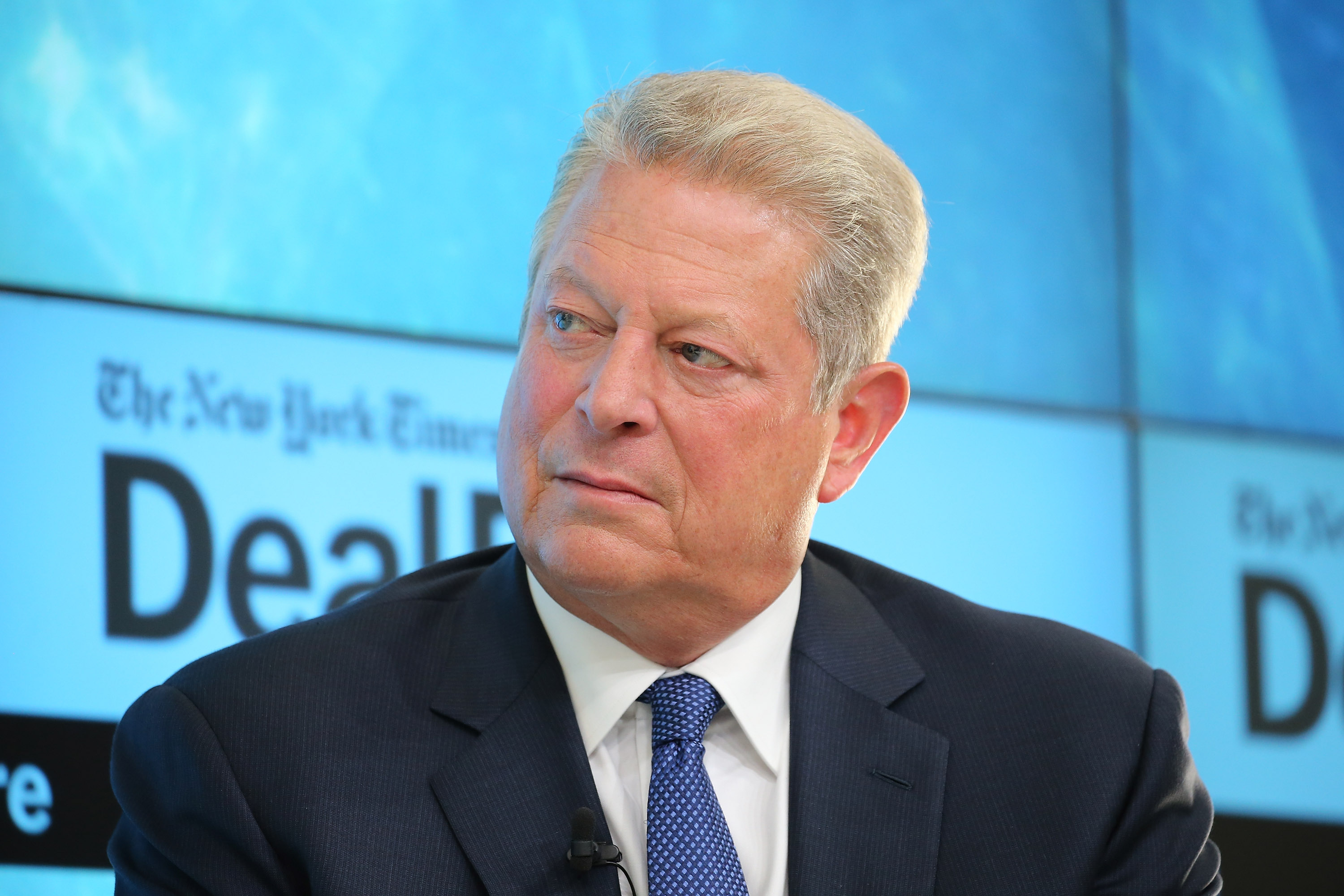 Former Vice President Al Gore, chairman of Generation Investment Management and chairman of The Climate Reality Project, participates in a panel discussion at the New York Times 2015 DealBook Conference at the Whitney Museum of American Art on November 3, 2015 in New York City.  (Neilson Barnard/Getty Images-- New York Times)