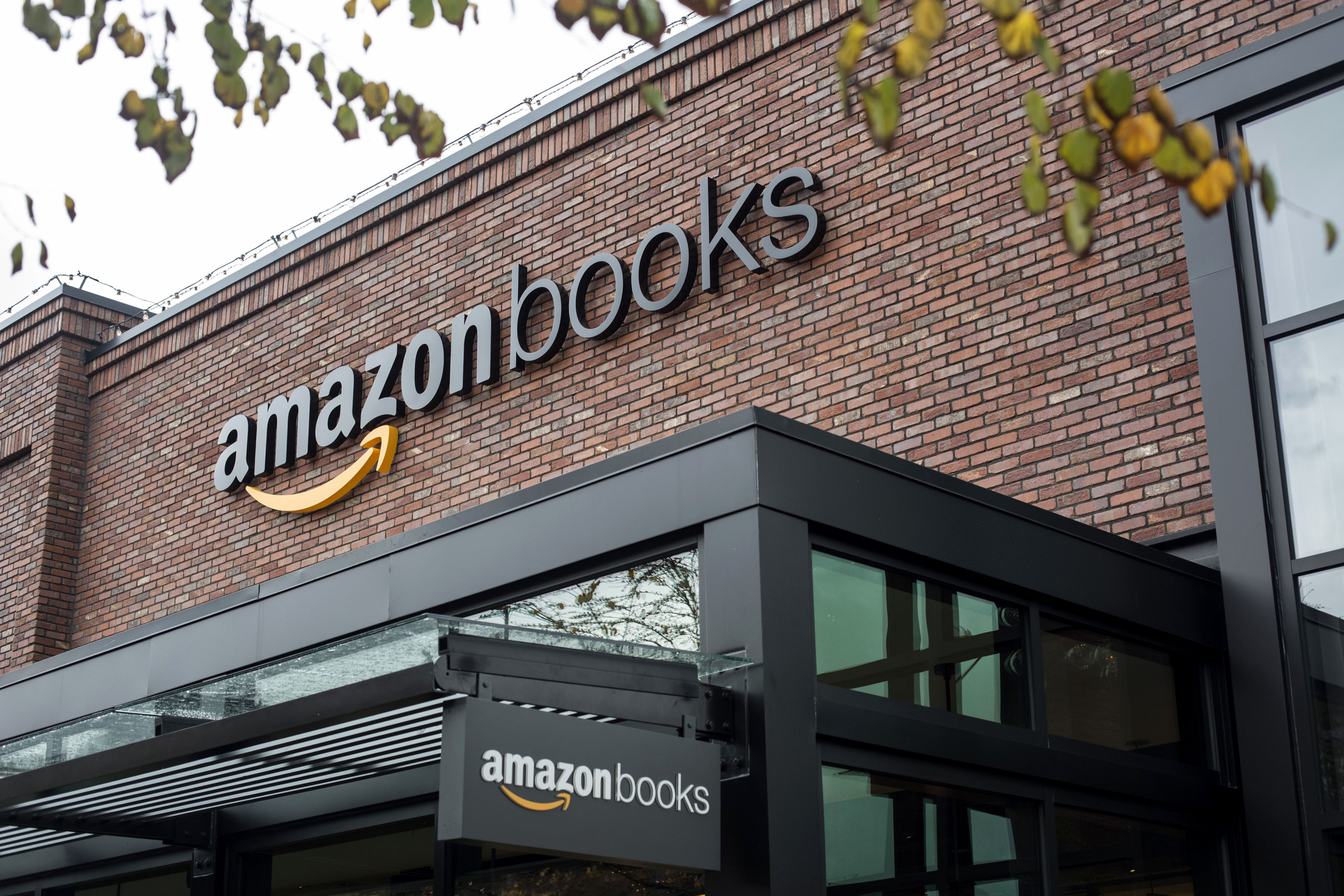The exterior of Amazon Books is pictured in Seattle, Washington, on Tuesday, Nov. 3, 2015. The online retailer Amazon.com Inc. opened its first brick-and-mortar location in Seattle's upscale University Village mall. Photographer: David Ryder/Bloomberg